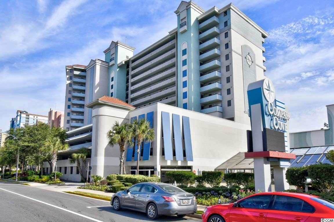Welcome home to this fully furnished, 1 bedroom, 1 bathroom in The North Tower at Compass Cove. This unit includes 2 beds in the bedroom, and a Murphy bed in the living area for an added sleeping space, allowing this unit to sleep up to 6. You will have a full kitchen with range, microwave, dishwasher, and refrigerator. Enjoy the ocean views from the balcony and spend your days at the many resort amenities. This resort offers something for the whole family- a game room, lazy river, water ride, kiddie pools, large indoor & outdoor pools, hot tubs, exercise room, on-site tiki bar/grill and Compass Rose Restaurant. Plenty of covered parking and of course, the beautiful Atlantic Ocean and the warm sandy beach. The North Tower is just minutes from the Grand Strand's finest dining, shopping, golf, and entertainment attractions. Whether you are looking for a great vacation get-away or an investment property, you won't want to miss this one. Schedule your showing today!