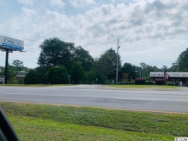 --The Owners are willing to do a property swap for part of the sale. MH with land or home with land. Great opportunity to get a commercial lot on Hwy 17 in Little River, don't miss this opportunity.---    Commercial zoning on the corner of Hwy 17 and Indian Hill Rd. This one acre lot has excellent road frontage and visibility and is between CVS drugs and Little River Pawn Shop. the Buyer is responsible for all verification. EZ to see, sign is on the property.