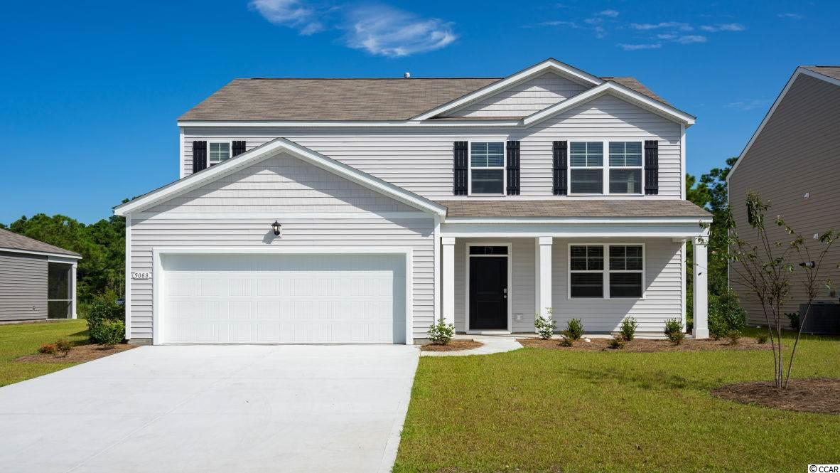 "The Elle is a brand new floor plan that has never been built in Carolina Forest! This home is oversized with plenty of room for everyone. Upon entry is a flex room that could be a great home office, game room, or even a formal dining room. The great room layout is wide open with sliding glass doors leading to the rear patio. 36"" white painted cabinetry, granite countertops,  stainless Whirlpool appliances, laminate wood flooring throughout the main living areas, and our industry leading smart home technology package all included! The primary bedroom on the first floor is very convenient, as well! The upstairs features four nicely sized bedrooms, two full bathrooms, the laundry room, and a versatile second floor living area!   *Photos and virtual tour are of a similar Elle home. (Home and community information, including pricing, included features, terms, availability and amenities, are subject to change prior to sale at any time without notice or obligation.  Square footages are approximate.  Pictures, photographs, colors, features, and sizes are for illustration purposes only and will vary from the homes as built.  Equal housing opportunity builder.)"