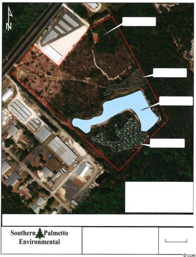 Priced to sell. Commercial and industrial development site in a great location. Property includes a water retention pond and proper zoning for industrial development. Measurements are approximate and not guaranteed. Buyer responsible for verification.