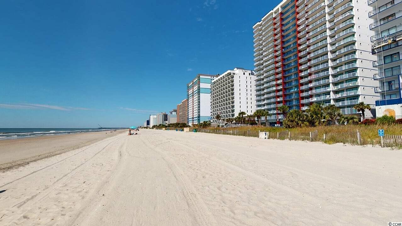 If you're looking for a direct oceanfront home or a rental opportunity you've found the one. Come enjoy the stunning view from your living room, master bedroom, or the 25-foot balcony. Recently renovated inside and out and fully furnished, the only thing you'll need is your beach gear. Upgrades throughout include vinyl plank flooring, fresh paint, granite counters, and updated bathrooms. This is a 2 bedroom unit with 2 full bathrooms and sleeps up to 8 people. Updated appliances and washer/dryer are included.  The building was renovated early 2020 with fresh exterior paint, ceramic tile at the entrance, refinished pool area, and more! Bluewater Resort features a restaurant on-site and all utilities are included in the HOA dues! Located close to dining, shopping, the airport, and the countless attractions of Myrtle Beach, you'll want to put this condo to the top of your list! Square footage is approximate and not guaranteed. Buyers responsible for verification.