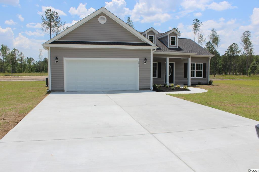 "Hickory plan. Pine Point is a new small community just off Cates Bay Road in Conway. Large 1/2 acre+ lots. 8 lots total. No HOA fees, basic CC&R's restrictions. This great floor plan has a low country covered front porch and a rear screened porch, large great room has vaulted ceiling with fan/light and formal dining area with tray ceiling, open floor plan. Kitchen has custom built wood cabinets with knobs and crown molding, stainless steel appliances, granite upgrade in kitchen, 16"" bar top breakfast counter/bar, breakfast nook and pantry closet. Split bedroom floor plan. Master bedroom suite has tray ceiling, ceiling fan, huge walk-in closet, double sinks, raised height vanity, walk-in shower and linen closet. Waterproof vinyl flooring thru-out the home and carpet in the bedrooms. Driveway has been extended an additional 15 feet. Our homes are built with minimum 9' smooth ceilings, 30 yr architectural roof shingles, gutters, and landscaped yard with irrigation system, fully finished and painted garages with automatic door opener and pull down stairs to attics storage. You can park your RV or boat at your house! Just 30 minutes away from Myrtle Beach and all the fun, food and entertainment you expect. Photos are for illustrative purposes only and may be of similar home built elsewhere. Square footage is approximate and not guaranteed. Buyer is responsible for verification."