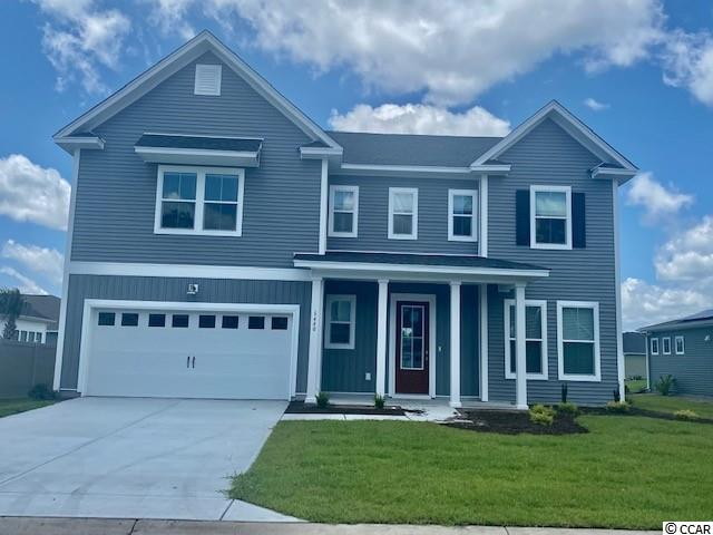 This Elliot plan is fantastic! 4 bedrooms and loft on second floor, guest suite on first floor....total of 5 bedrooms, 3 baths. Open plan with lots of windows . Capture the lake view from rear windows and rear covered porch.  Home is under construction but we have a furnished Elliot Model Home which you can tour. See agent for list of upgrades/options.  Clear Pond offers an exciting collection of new homes carefully designed with just the right amount of southern charm. Tucked conveniently a few miles away from Hwy 501 you have easy access to the beach, golf, shopping, Carolina Forest Elementary and High Schools, hospital, and restaurants. All of life's conveniences are right around the corner. Plus, you can easily walk or bike to the Clear Pond clubhouse, two pools, fitness center, playground and more!