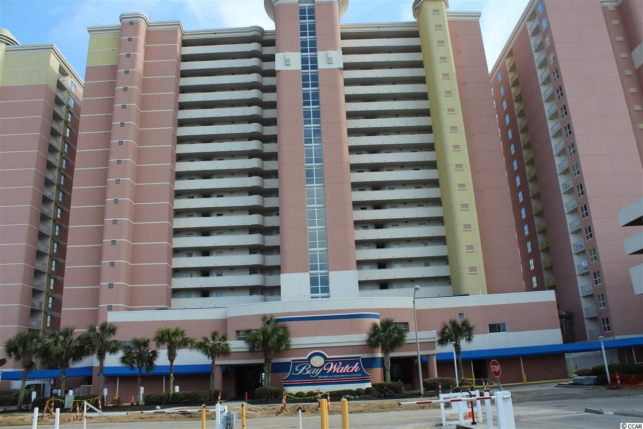 You don't want to miss this one!  Fabulous one bedroom oceanfront unit complete with a full kitchen and washer and dryer!  Bay Watch has many amenities including indoor and outdoor pools, lazy river, outdoor cafe' in the summer, two restaurants, conference area and a workout room.  You'll love the fabulous views of the ocean from the balcony where you will enjoy the sunrise with your morning coffee and a gorgeous sunset at the end of the day!     Another perk is the HOA covers electric in the unit along with cable and internet.