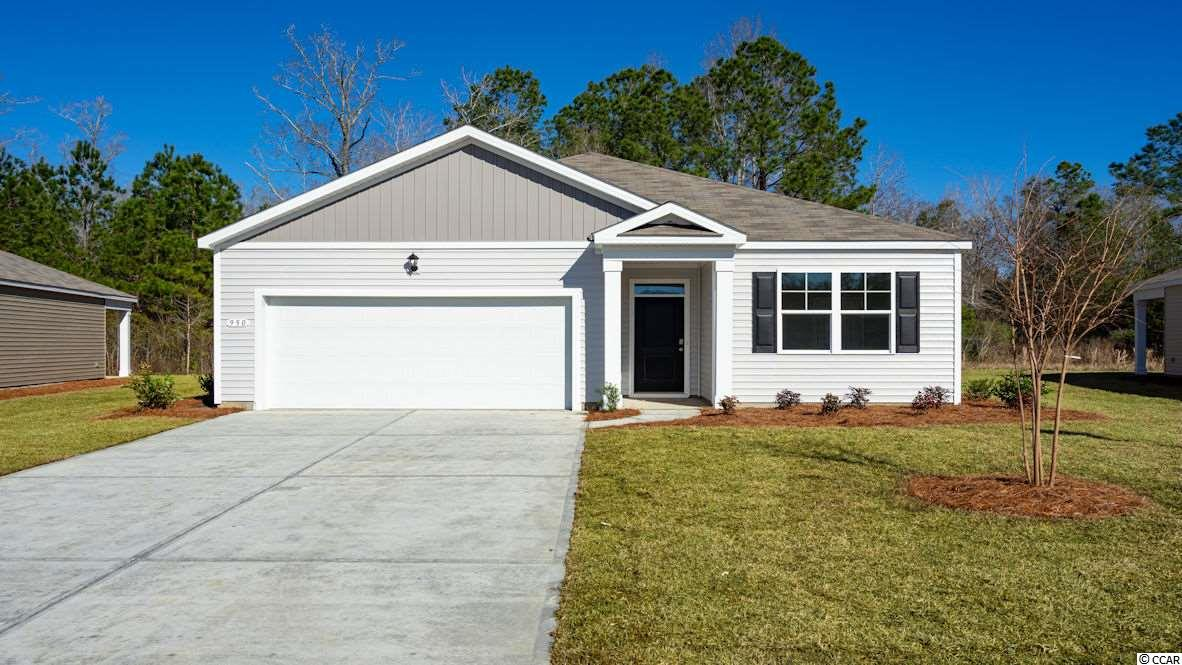"""The Aria plan is back in Carolina Forest in our brand new, natural gas community! The Parks of Carolina Forest is a picturesque setting of ponds, an amazing amenity center, and park of the majestic """"Ten Oaks"""" with a walking trail to get to the Carolina Forest library. This home is the perfect choice for any stage of life, whether you are buying your first home or downsizing, featuring an open concept living room and kitchen that are great for entertaining. Granite countertops in the kitchen, 36"""" painted cabinets, and stainless Whirlpool appliances with a gas range all included. Wide plank laminate flooring flows throughout the home with tile in both bathrooms and the laundry room. This home also features a rear screen porch and extended patio. This is America's Smart Home! Simplify your life with a dream home that features our industry leading smart home package allowing you to control the thermostat, front door light and lock, and video doorbell from your smartphone or with voice commands to Alexa! It's a home that adapts to your lifestyle.     *Photos are of a similar Aria home.   (Home and community information, including pricing, included features, terms, availability and amenities, are subject to change prior to sale at any time without notice or obligation.  Square footages are approximate.  Pictures, photographs, colors, features, and sizes are for illustration purposes only and will vary from the homes as built.  Equal housing opportunity builder.)"""