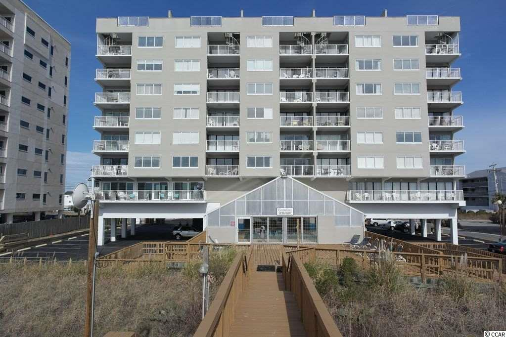 LOCATION LOCATION LOCATION! MASTER AND LIVING ROOM VIEWS OF THE ATLANTIC AS FAR AS YOU CAN SEE FROM THIS 2 BR/2BA CONDO IN CHERRY GROVE. INDOOR HEATED POOL AND HOT TUB TO ENJOY YEAR ROUND! CLOSE TO FISHING, GOLFING AND DINING UPGRADED FEATURES GREAT FOR RENTAL OR VACATION HOME ON THE BEACH. CHECK OUT VRBO RATINGS!