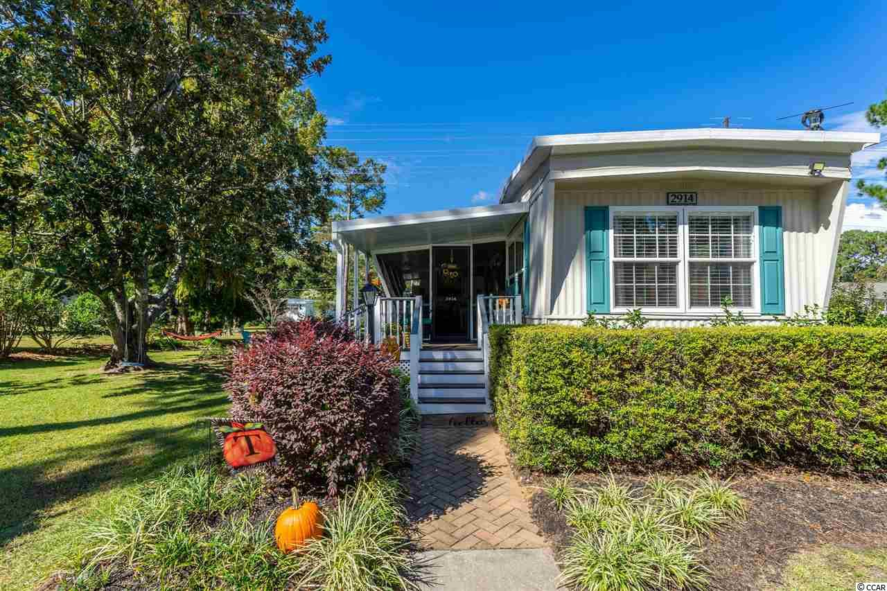 Lovely 3 bedroom, 2 bath home in excellent condition. Open concept living and kitchen area optimizes space for an light airy feeling.  Neutral colors with luxury wood vinyl throughout the home.  This home is located on a corner lot in Ocean Pines (formerly Jensens) a 55+ Community near the beach.  Close to all of the amenities, shopping and fine dining in Murrells Inlet and not far from the Marsh Walk.  The beach is less than a mile golf cart ride from the home.    This community has 2 community pools and club houses.  Don't wait to schedule your appointment to see this charming home today!