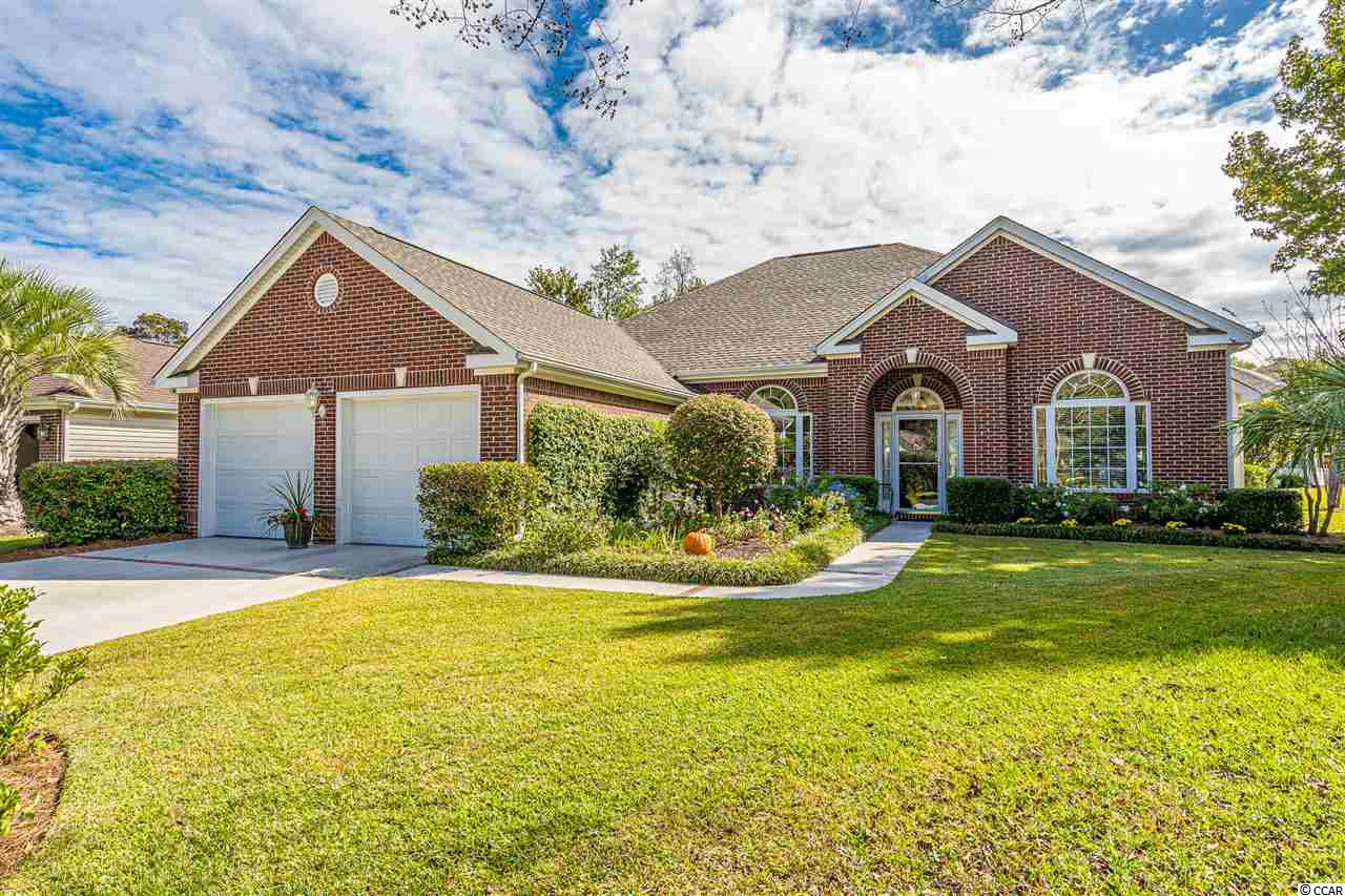 Wait until you see this one! Exceptional brick front home located on a cul-de-sac in a popular golf course community. Notice the extensive landscaping and coated driveway and sidewalk as you walk up to the front door. This gorgeous property has been extremely well cared for.  Pride of ownership abounds from the exterior and continues into the home.  As you enter the foyer, take note of the formal living room on your right and the dining room on your left.  Straight ahead is a very open and spacious family room with fireplace and ceiling fan. Take note of the rounded niches and cutouts which add a unique design appeal. The master bedroom is large with a tray ceiling and attached bath.  The bathroom features a separate shower, garden tub, and double sinks.  Two guest rooms and second bath are located on the other side of the house. The kitchen has a breakfast bar, nook area, and pantry. Plus new LVP flooring that also was installed in the laundry room and hallway.  The screened porch is an awesome size (21.4 x 8.4) with a ceiling fan and also has the coated floors. There is so much to love about this home. There is extra storage space in the attic, skylight in hallway, cabinets in the laundry room, marble window sills, and storm doors on the front and side of home. Plus the garage has coated floors, extra circuits, cabinets, pegboard and shelving.  The roof was replaced in 2019, water heater in 2018 and the heat pump was new in 2013.  Put this one on your list to see. It is a beauty! All measurements and square footage are approximate and not guaranteed. Buyer/buyer agent is responsible for verification.