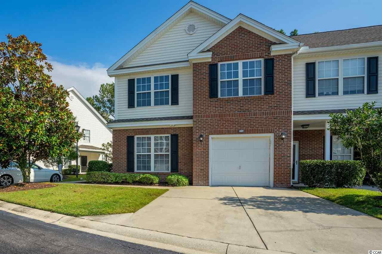 Beautiful 3 bedroom 2.5 bath end unit townhome in the St. Andrews community.  Property overlooks golf course and pond for a peaceful and serene setting. New LVP flooring on main floor for easy maintenance.  Large loft area would make a great office or sitting room.   Roof and HVAC replaced in 2017.