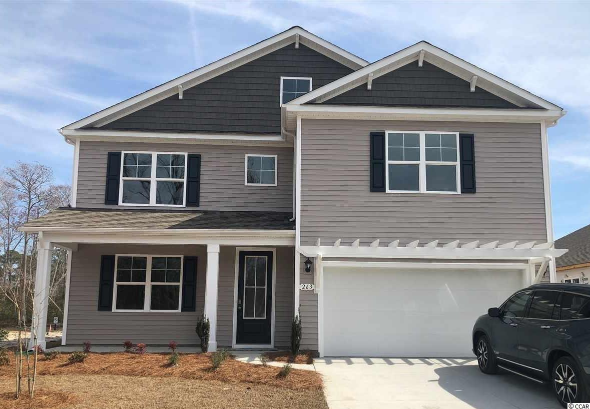 New phase now selling in Hidden Brooke! This popular Tillman plan will give you the perfect mix of indoor and outdoor living featuring a large front porch and a spacious rear patio with pond views! Gourmet kitchen with sleek granite, modern gray painted cabinets, and stainless Whirlpool appliances including a wall oven and gas range. Beautiful wide plank laminate wood flooring flows throughout the entire home with tile in the bathrooms and laundry room. The first floor primary bedroom suite boasts a huge walk-in closet and en suite bath with a double vanity and tile spa shower. Upstairs you will find a generous loft area, four additional bedrooms, and two full bathrooms. Hidden Brooke is a beautiful community with an amenity that includes a pool with large deck area, clubhouse, and exercise room. Minutes away from Highway 31 which provides quick and easy access to all of the Grand Strand's offerings: dining, entertainment, shopping, and golf! Tranquil setting just a short drive to the beach.  *Photos are of a similar Tillman home.  (Home and community information, including pricing, included features, terms, availability and amenities, are subject to change prior to sale at any time without notice or obligation. Square footages are approximate. Pictures, photographs, colors, features, and sizes are for illustration purposes only and will vary from the homes as built. Equal housing opportunity builder.)