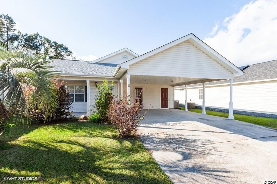 3 bedroom 2 bath home located in The Pines of Saint James. New roof, New carpet, fresh paint, new appliances (not refrigerator) and more! Double carport, storage shed. Formal living room, open great room. Master bedroom has door to access patio and back yard! Call your agent to take a look today!