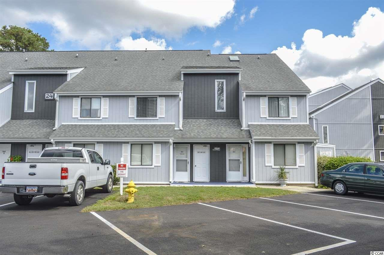 2 bedroom 1.5 bathroom FURNISHED END UNIT for sale in Baytree Golf Colony in Little River. NEW HVAC AUG 2020. Great location just off of Highway 9, close to Highway 17 and across the street from McLeod Seacoast Hospital. Short drive to the beach, surrounded by multiple golf courses and convenient to lots of shopping & dining choices the north end has to offer. Baytree Golf Colony features lots of on-site amenities including outdoor community pools, indoor pool center, and HOA management office. Unit 24A is a spacious 1st floor end unit with a large screened-in porch overlooking the outdoor pool. Walking through the front door, you enter into a foyer with both bedrooms & 1.5 bathrooms off the hallway. Both bedrooms are spacious and feature carpet flooring & plenty of closet space. Full bathroom is equipped with a single sink bowl vanity and tub/shower combo. Large kitchen overlooks the main living area - complete with a full set of appliances and large breakfast bar/counter space. Living room features an overhead ceiling fan and patio door access to screened-in porch. Priced to sell - schedule your private showing today!