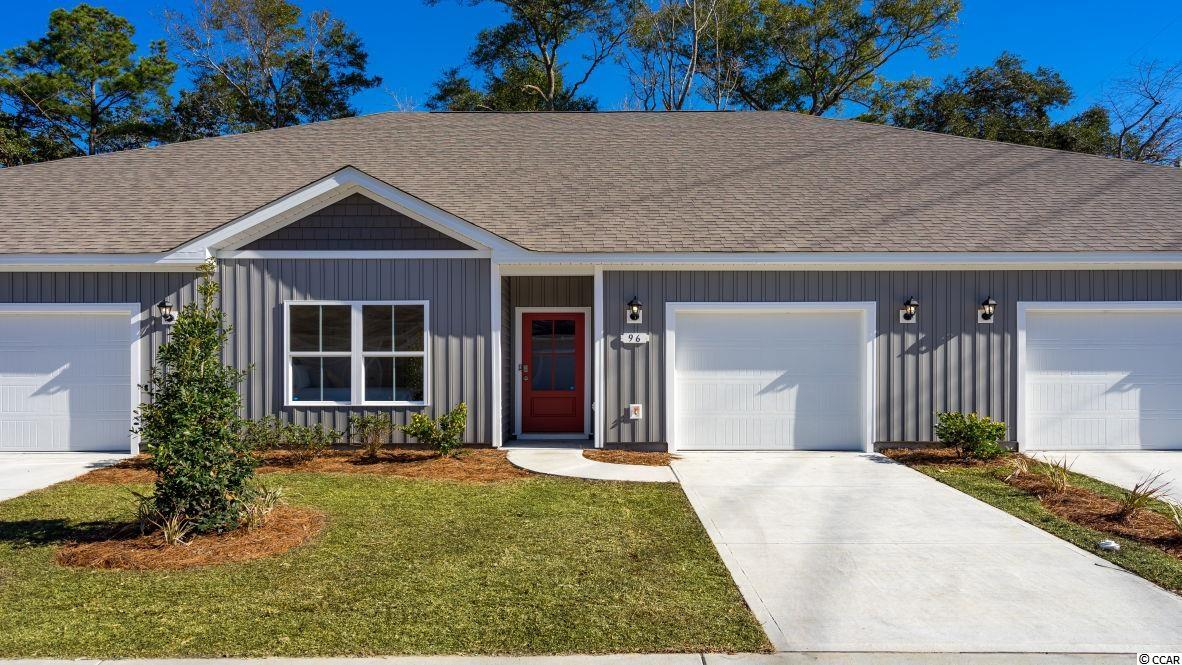"Brand new community within walking distance to the Murrells Inlet Marsh Walk! Low maintenance living at its best with these single level townhomes. Our Bentley floorplan is masterfully designed with an open concept kitchen, living, and dining area that is perfect for guests visiting you at the beach! Features include 36"" painted cabinetry, granite counters in the kitchen, stainless Whirlpool appliances, and laminate wood flooring that flows throughout the main living areas. This home also boasts a versatile flex space that would make a great formal dining room or home office. The primary bedroom suite is tucked away at the back of the home with a walk-in closet along with a private bathroom with dual vanity and large shower. Enjoy the beautiful coastal weather on the rear covered porch! 1-car garage with garage door opener plus a spacious storage closet off the rear porch. It gets better- this is America's Smart Home! Ask an agent today about our industry leading smart home technology package that is included in each of our homes.  *Photos include renderings of the Bentley floorplan. This home is under construction. (Home and community information, including pricing, included features, terms, availability and amenities, are subject to change prior to sale at any time without notice or obligation. Square footages are approximate. Pictures, photographs, colors, features, and sizes are for illustration purposes only and will vary from the homes as built. Equal housing opportunity builder.)"