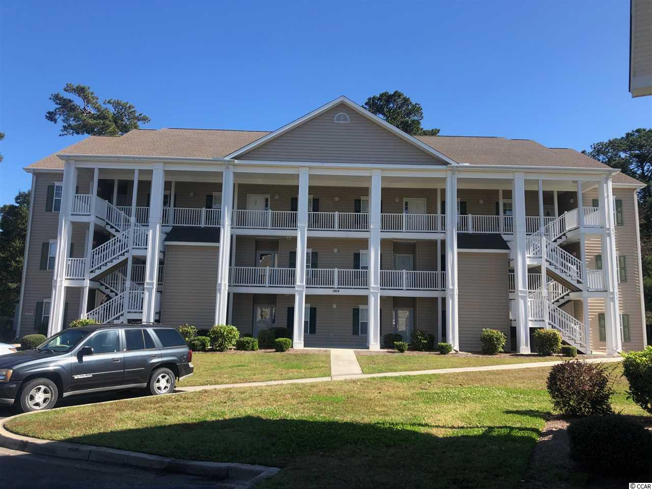 Nice 3Bd/2/Ba on the third floor, with cathedral ceiling and nice screened porch overlooking the golf course. This unit is being sold fully furnished. Excluding personal items. Downstairs is a owners closet. Community pool.