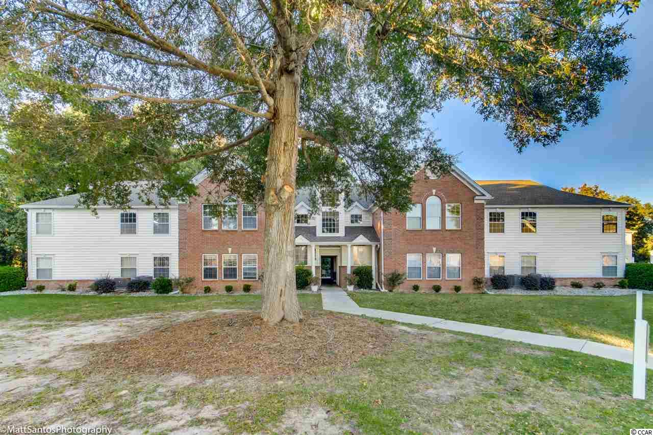 Location, location, location!!  First Floor three bedroom unit fully furnished. This delightful condo is located in the Riverwood Complex close to all Murrells Inlet has to offer. A private entrance to the unit starts in the foyer. There is a full galley kitchen with large pantry. A cozy dining area opens to a large living room and a sunny Carolina space. Two guest bedrooms share a hall bath, a laundry room is accessible here as well. Tucked at the end of the hall is the Master suite complete with two walk in closets, a large bathroom with double sinks and separate tub and shower units. This building shares a patio in the rear for relaxing. Located near Wachesaw Plantation, Waccamaw Hospital and The Marsh Walk.