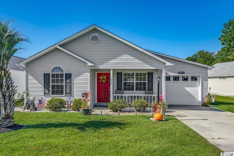 Turn Key 3 bed 2 bath in Murrells Inlet with low HOA. This meticulously cared for home has been painted and updated with neutral colors to fit the modern look you have been searching for. Professional landscaping greets you as you notice the added parking spaces and front porch in this fantastic community with award winning schools. Inside you are greeted with living room with vaulted ceiling and ceiling fan maximizing the cozy space. In the kitchen you will notice white cabinets on grey laminate flooring and white appliances for a cool modern feel. Easy access off the kitchen is the dining area where you will gather and discuss the days many events! Near the rear of the home is the spacious master bedroom with en suite bathroom while the second and third bedrooms with ceiling fans and walk in closets share the second bathroom towards the entrance. Off the dining area leads you to an outstanding all season room which is the perfect place for enjoying morning coffee, meals, or any time of the day while keeping cool and pest free! Square footage is approximate and not guaranteed. Buyers responsible for verification.