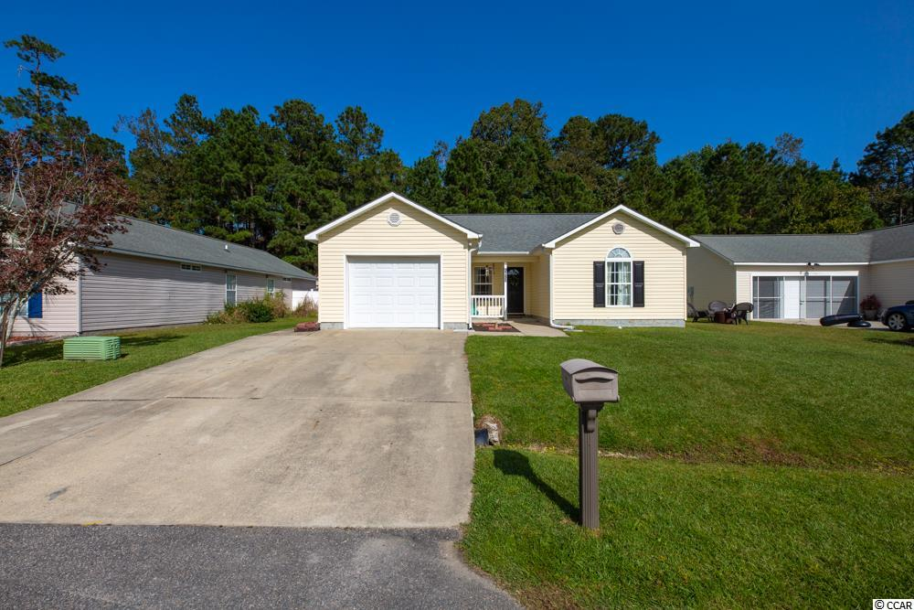 This beautiful home is located in the sought after Pines of Saint James Community. There are many upgrades in this home. It has an open floor plan feel with the peek a boo wall. The home offers a lot of natural light. Enjoy the screened in porch and fenced in back yard. There is also new flooring through the house. This home is a must see. Square footage is approximate.