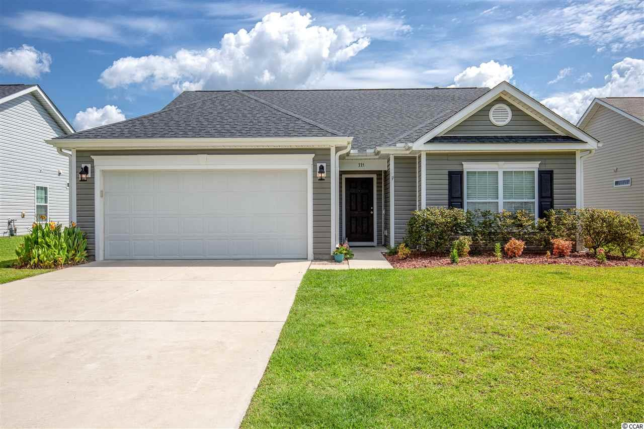 Palm Lakes Plantation offers easy access to North Myrtle Beach.  Just 6 miles to the Ocean at Main Street and just about 6 miles to Cherry Grove Beach.  This is the Camden A floor plan with upper bonus.  A ranch home with a bonus / 4th bedroom with full bath.  The living areas offers vinyl planking floors.  The kitchen has granite counter tops and opens up to the breakfast area, living room and dining room.  There is a covered patio and fenced back yard.  Natural gas for heating, range and endless hot water with a Rinnai system.  The master bath has a garden tub, dual vanity sinks and separate shower. The subdivision has a beautiful boulevard entry, owner's clubhouse, gym, playground and swimming pool.  The third bedroom does not have a closet.