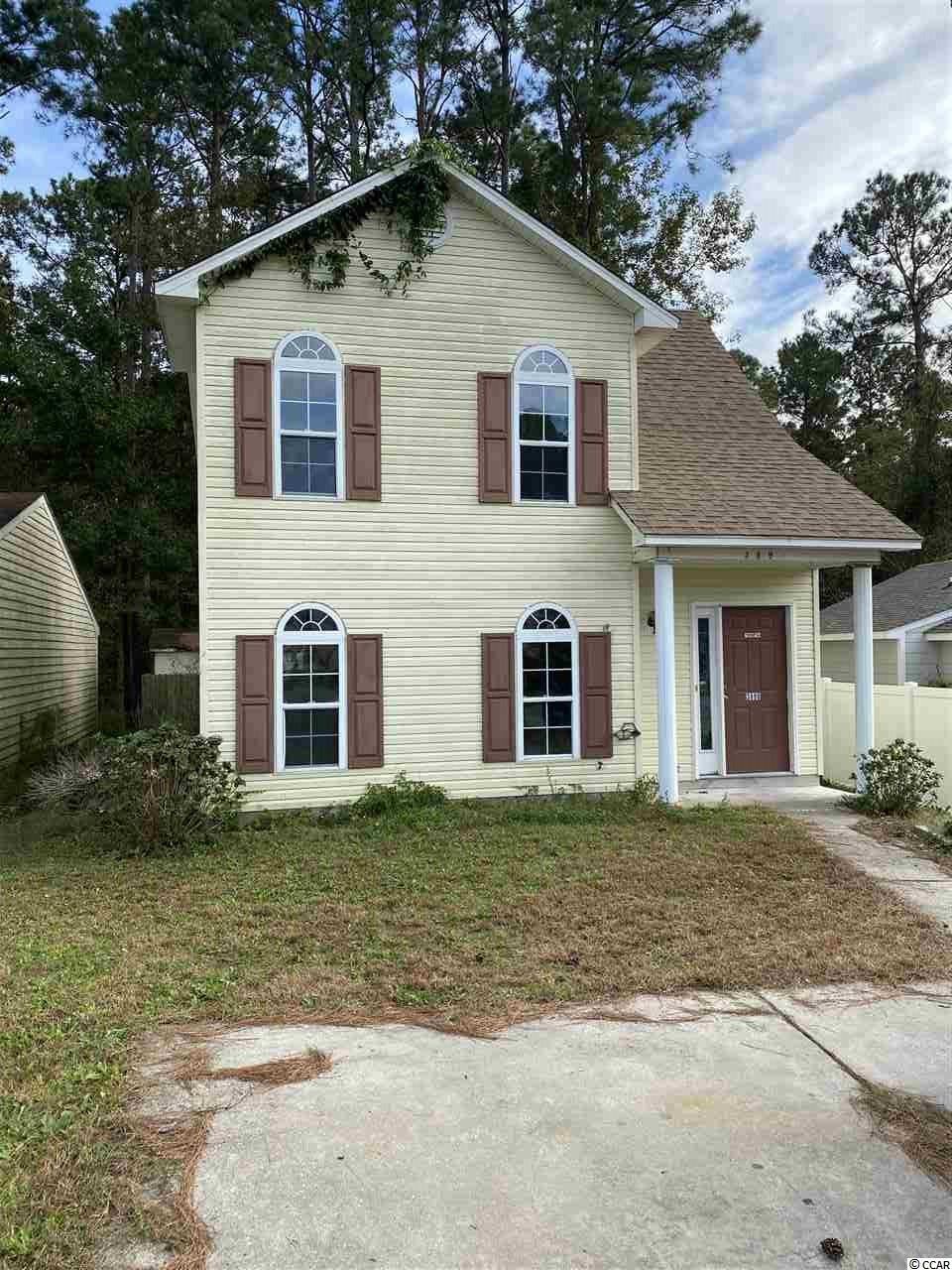 Located in the Pinebrook community in Little River, 10 minutes from the beach! This two-story home is in a fantastic location and has so much potential. There's a full kitchen, fireplace, 3 bedrooms, 2 full bathrooms, fenced in yard, deck, and a storage shed to play with! Pinebrook is a quaint community with a pool located only about 10 minutes from the ocean with plenty of restaurants and entertainment in between. North Myrtle Beach, Cherry Grove, Conway, and Highways 90, 17, 31, and 9 are all easily accessible from this home. This one will not last - take a look for yourself TODAY!