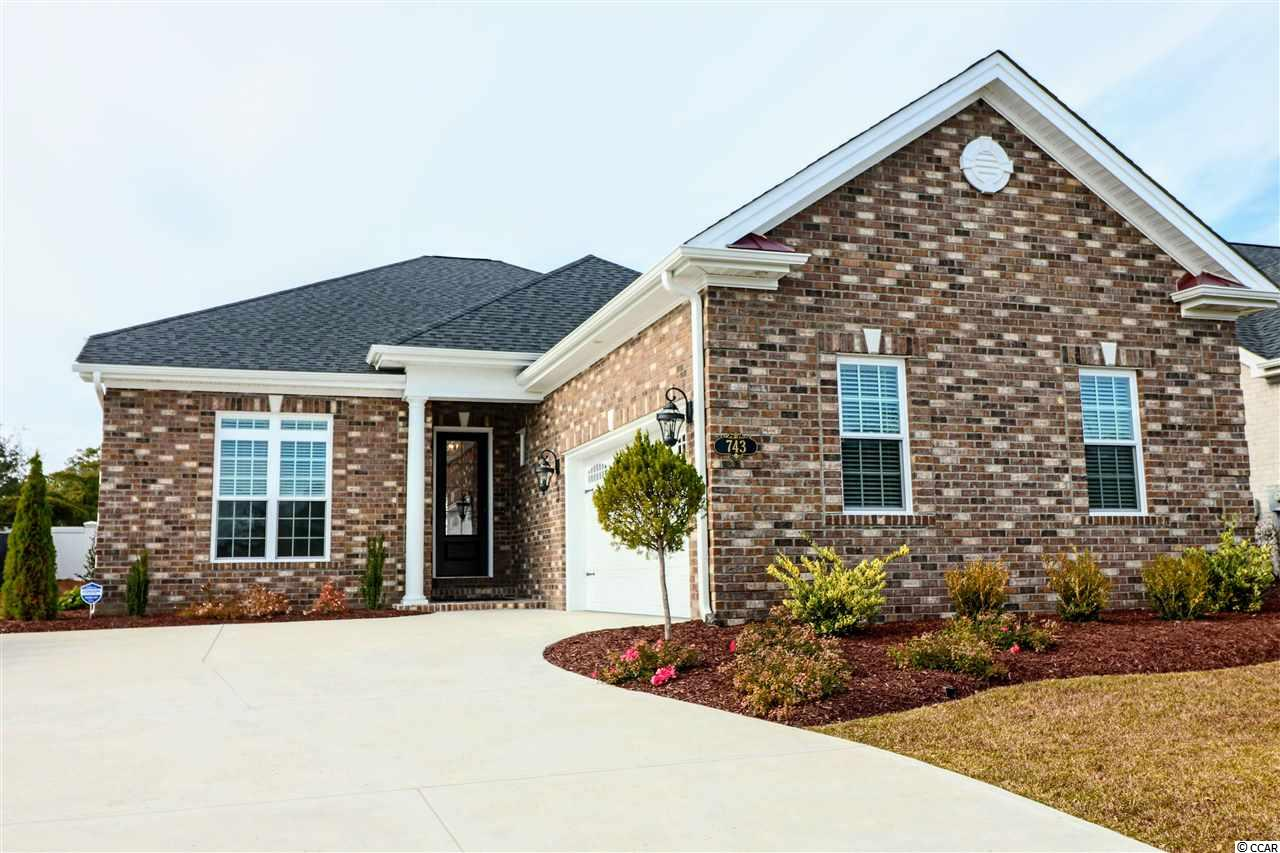 """Why buy a used home, this former Model Home for 10 months is perfect for you.  The all brick home is loaded with all the extras you have always wanted.  This home feels huge, due to the 10ft ceilings, 8ft doors/openings and abundance of windows.  So accommodating, as each bedroom has its own bathroom.  You have to see the Owners Suite, it would draw """"oohs and aahs"""" from all that viewed. Cipriana park at Grande Dunes is nearly completed, perfectly located close to all local amenities and an easy golf cart ride to the private Ocean Club.  Do not miss this home and be sure to check out the 3D virtual tour."""