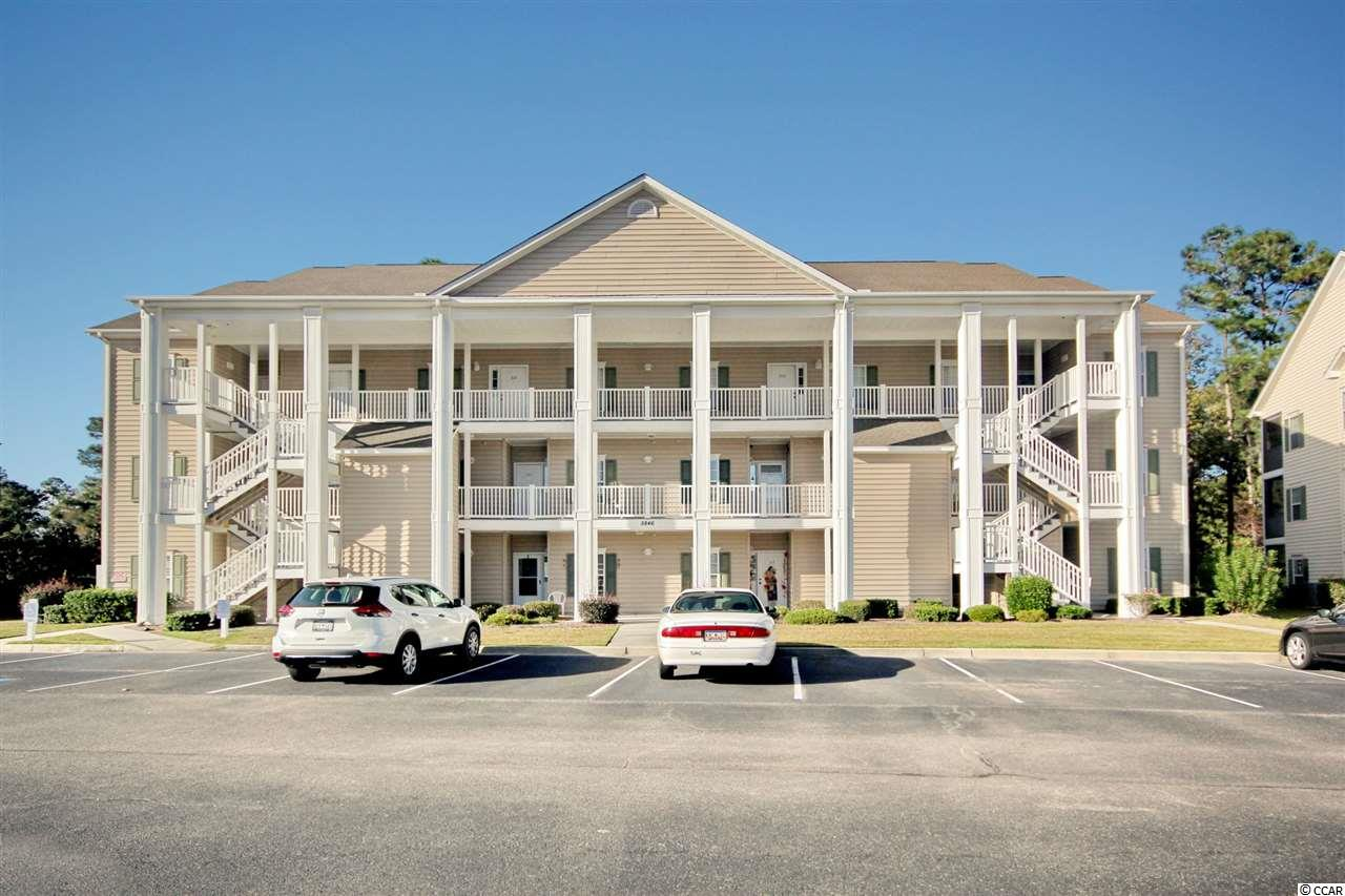 Welcome to this gorgeous, move-in-ready end unit and top floor in desirable Marcliffe at Blackmoor. If you like quiet and privacy, you will love that there is no one above you. This condo comes beautifully furnished, right down to the wall art and features a new refrigerator and microwave. Custom blinds throughout, freshly painted with Sherwin Williams Duration, newer water heater and brand new AC just replaced. This is a split floor plan, which makes the master suite completely private, while two guest rooms flank the foyer entrance. Full size guest bath features a walk-in shower. The large open concept living area is light and airy with plenty of windows and vaulted ceilings. Roomy kitchen with a separate laundry room that comes with a washer and dryer. The Master bedroom has a large walk in closet and it's own private master bathroom. Relax outside in your screened in porch and enjoy your morning coffee with an amazing view of the 1st hole of Gary Player's only Grand Strand signature golf course. Ceiling fans in all 3 bedrooms, the living room and screened in porch assure a wonderful cool breeze throughout the home. All window treatments and patio furniture also convey. Included is a large, separate storage unit on the 1st floor. Enjoy the community pool, grilling area and clubhouse. This condo has been used sparingly as a second home with only one owner. Conveniently located minutes to the beach, Murrells Inlet Marshwalk, shopping, Huntington State Park, medical facilities, including Tidelands Waccamaw Hospital.