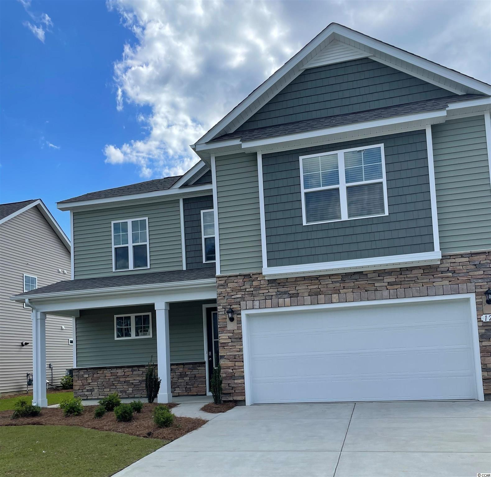 New phase now selling! Hidden Brooke is a beautiful community with an amenity that includes a pool with large deck area, clubhouse, exercise room, and fire pit overlooking the water. Minutes away from Highway 31 which provides quick and easy access to all of the Grand Strand's offerings: dining, entertainment, shopping, and golf! Tranquil setting just a short drive to the beach. This home has everything you are looking for! Our Belfort plan with a stacked stone elevation, 8 ft. entry door, and inviting front porch. Spacious kitchen with white painted cabinets, granite countertops, a large island overlooking the family room, spacious pantry, and stainless Whirlpool appliances. Beautiful laminate wood flooring throughout the main living areas with tile in the bathrooms and laundry room. Sliding glass doors off the dining area lead to the rear screen porch creating a seamless transition from indoor to outdoor living. First floor primary bedroom suite with extension along with a large shower, dual vanity, walk-in closet, and a separate linen closet for additional storage. Three nicely sized bedrooms and a versatile loft space are upstairs! It gets better- this is America's Smart Home! Ask an agent today about our industry leading smart home technology package that is included in all of our new homes. *Photos are of a similar Belfort home. (Home and community information, including pricing, included features, terms, availability and amenities, are subject to change prior to sale at any time without notice or obligation. Square footages are approximate. Pictures, photographs, colors, features, and sizes are for illustration purposes only and will vary from the homes as built. Equal housing opportunity builder.)