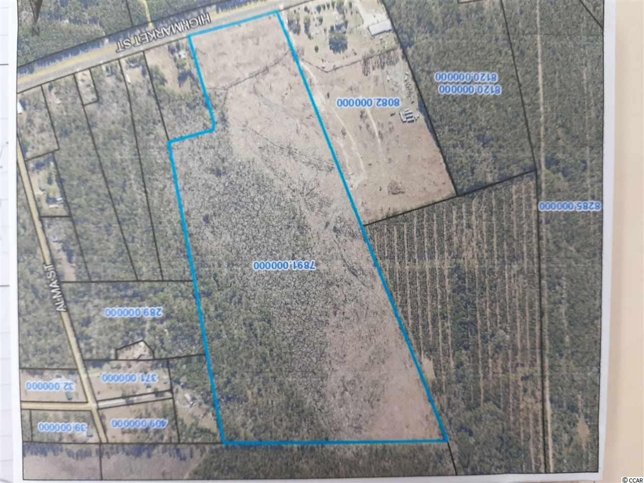 Large 62+acre  currently using as acreage but zoned for industrial tract (zoned HI industrial) just west on Hwy. 521 outside of Georgetown near 8 Oaks Park. Treed property, lots of wildlife. Possible Owner financing. Great development possibility. Only  20 miles to the beaches of Pawleys Island.