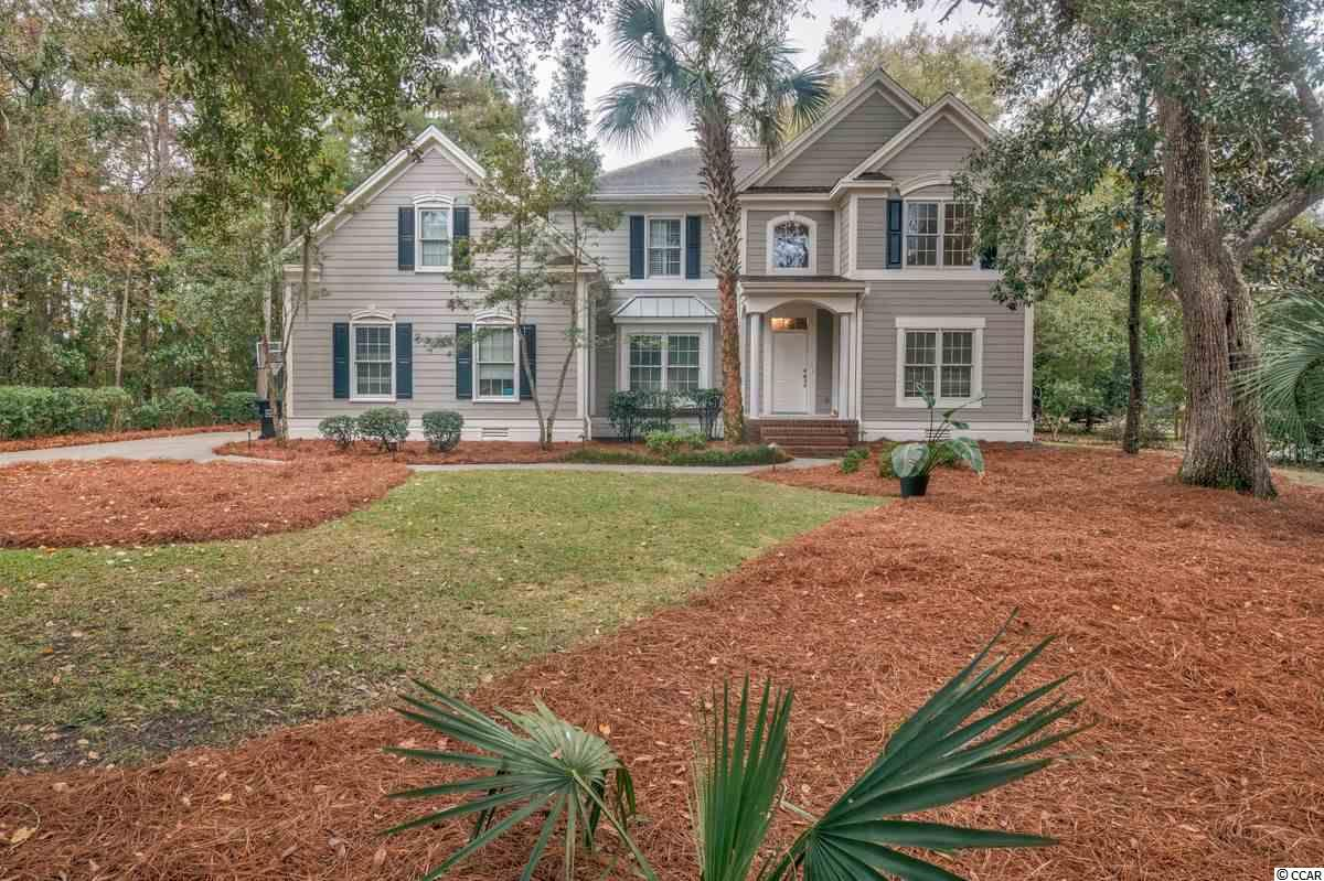 This spacious home is located on DeBordieu's Pete and PB Dye designed golf course, hole #3. It is in a central location to the golf club house yet a rather short ride to the beach by golf cart. The master bedroom is on the 1st floor.  Also on the first floor is a dining room and formal sitting area as well as a family room which is open to the kitchen and breakfast nook. Walk out the back door to a large pool deck and an 800 sq. ft. saltwater pool (with a motorized pool cover for easy maintenance). There are three bedrooms upstairs along with a billiard room and den for entertaining.  A large office is near the entrance of the home with built in's and a computer deck. The two car side entry garage can hold your DeBordieu beach, golf and creek toys. The kitchen and bathrooms were updated in 2018 along with new wood floors in the kitchen and main living areas. This is a versatile property suitable for either a family, retiree, or vacation home.