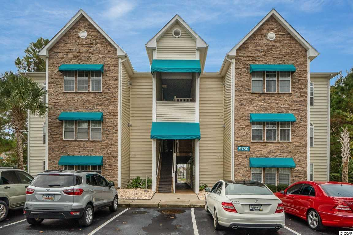 Amazing opportunity to own a first floor, 1 bedroom, 1 bathroom condo located in the gated community of Savannah Shores. This condo features a Carolina room that can be used as an office, a playroom or as a second bedroom. The fully equipped kitchen features granite countertops, stainless steel appliances and a dining area. The main living area offers a wet bar with cabinets for additional storage space. The bedroom features an ensuite bathroom and a walk-in closet. There is a full-size laundry room in the condo for more convenience. Additional features of this property are ceiling fans throughout and plenty of closets for storage space. On top of this fantastic unit, this complex is well maintained and features a beautiful pool, a tennis court, a playground, a fitness room and a clubhouse. Located near the mall, Barefoot Landing, Tanger Outlets, shopping, dining, entertaining, golfing and more! Excellent opportunity to own an affordable condo just a golf cart ride to the beach. An excellent choice for a vacation home or a potential rental. Don't miss out! Schedule your showing today!
