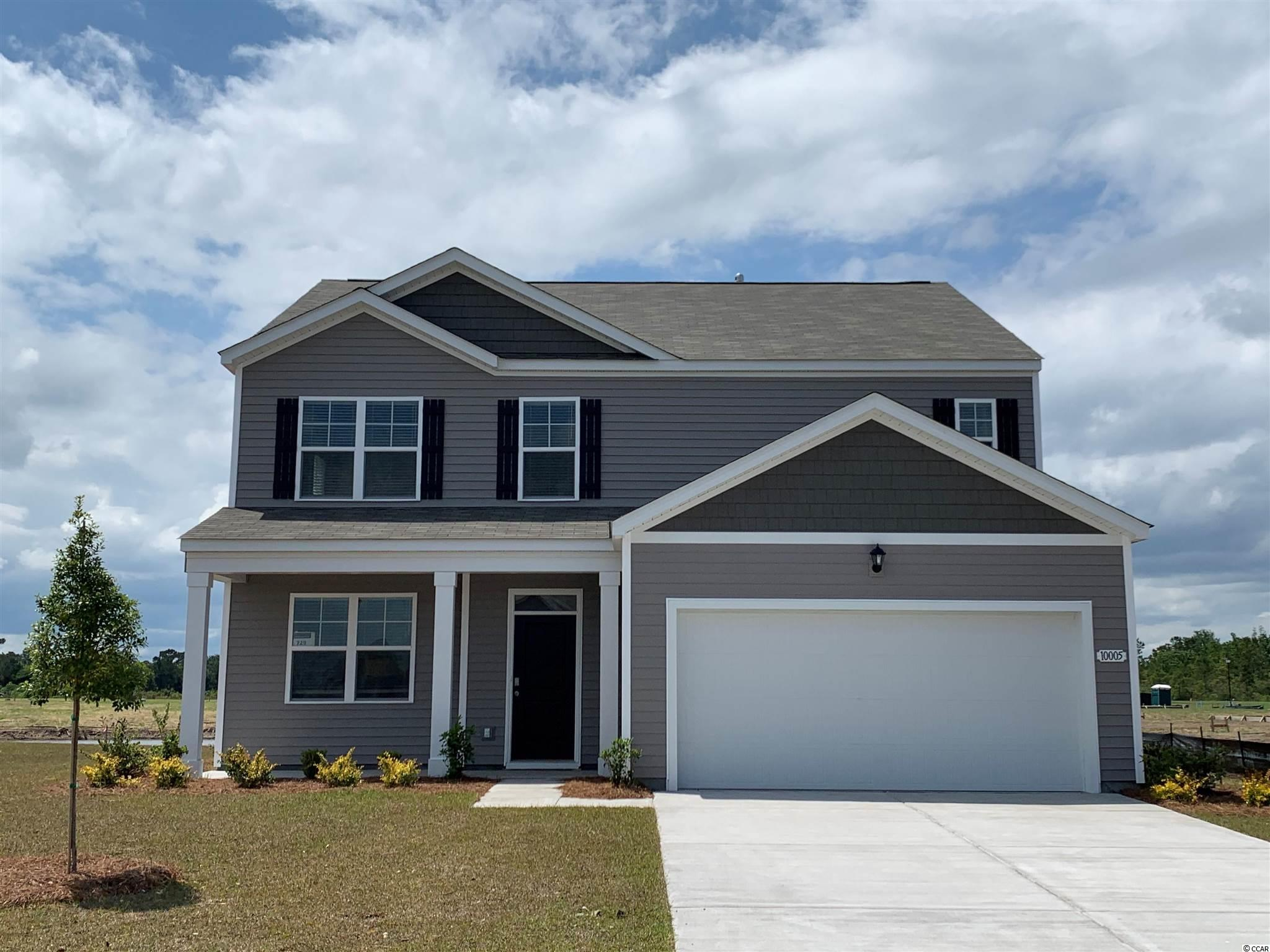 "The Elle is a brand new floor plan that has never been built in Carolina Forest! This home is oversized with plenty of room for everyone. Upon entry is a study with French doors that could be a great home office, game room, or even a formal dining room. The great room layout is wide open with sliding glass doors leading to the rear covered porch and patio. 36"" gray painted cabinetry, granite countertops,  stainless Whirlpool appliances, laminate wood flooring throughout the main living areas, and our industry leading smart home technology package all included! The primary bedroom on the first floor is very convenient, as well! The upstairs features four nicely sized bedrooms, two full bathrooms, the laundry room, and a versatile second floor living area!   *Photos and virtual tour are of a similar Elle home. (Home and community information, including pricing, included features, terms, availability and amenities, are subject to change prior to sale at any time without notice or obligation.  Square footages are approximate.  Pictures, photographs, colors, features, and sizes are for illustration purposes only and will vary from the homes as built.  Equal housing opportunity builder.)"