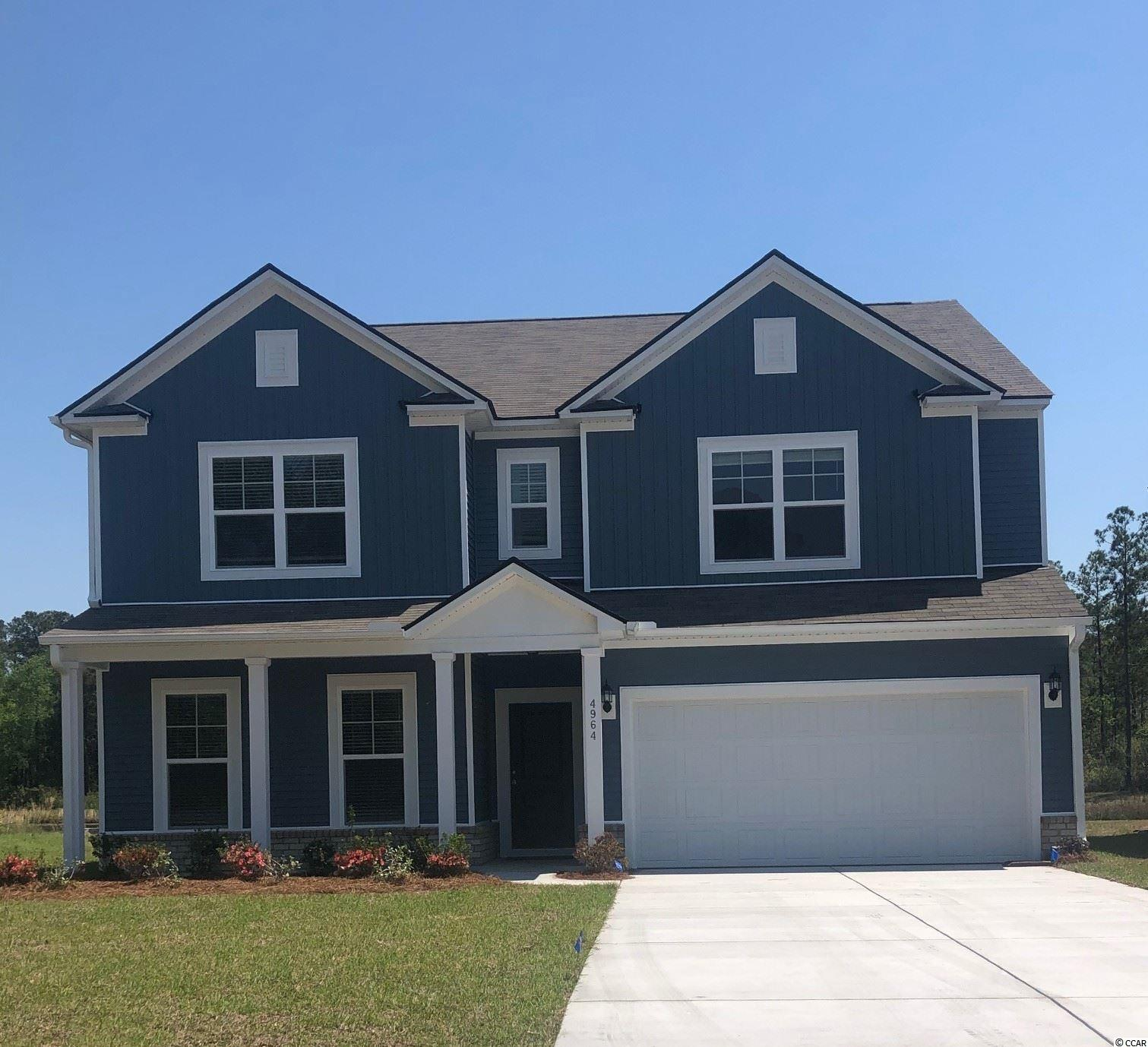 "This Mitchell home is 5BR / 3BA + extended Game Room. You'll love the large Owner's Suite with a bedroom-sized master closet. Double vanity, large linen closet, and walk in shower in Owner's Bath. This open kitchen has ample cabinet space, a roomy corner pantry, and the 9'6"" granite island is idyllic! Additional features are staggered cabinet design, stainless steel appliances, and LED lights. Upstairs is the Owner's Suite, 3 large bedrooms, and game room/loft for additional living space. We include an exceptional 10yr Home Warranty with 5-year water infiltration and leak protection as well as great incentives for working with preferred lender. ...ask for details! This ""tucked away"" section in Clear Pond offers a unique feel and natural setting...a great location within the community.  Completed Clear Pond amenities include 2 swimming pools, fitness center, playground, clubhouse, open green space, and walking paths. This community is conducive to biking, walking, and golf cart rides...a fantastic place to call home! Clear Pond community offers close proximity to everyday shopping, restaurants, recreation, and entertainment and is only 10 miles to the beach. Carolina Forest Schools.  Photos are of a model home for representational purposes only, and may show different options and upgrades selected."