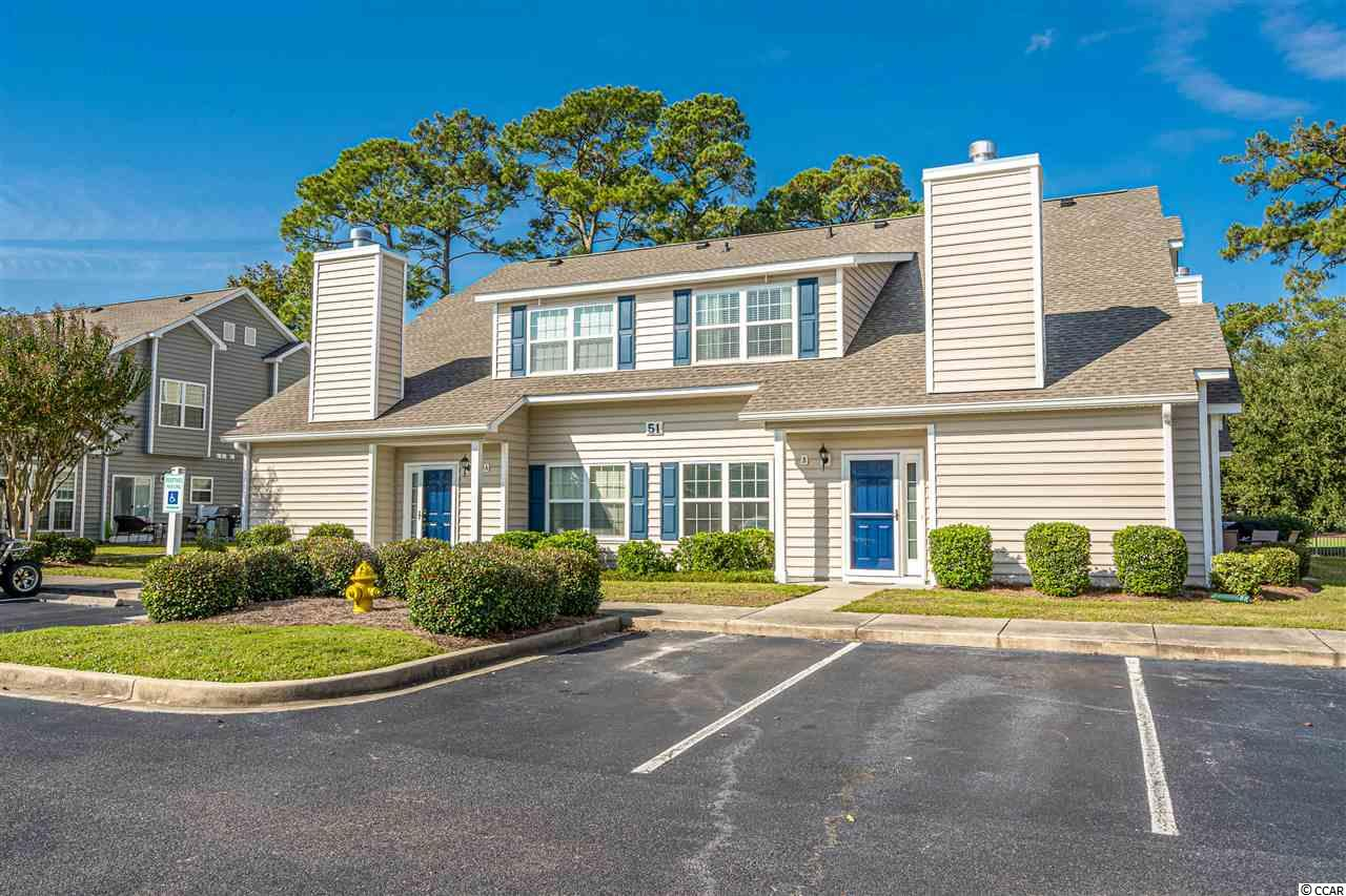 """Looking for all of the luxuries of living in a single family home close to the beach without any of the headaches? Here's your chance! Welcome to Fairway Oaks: a neighborhood of townhome-style condos located in Cherry Grove. This golf cart friendly neighborhood is just a short ride to the beach and the Coastal North Shopping Center without getting on or crossing over any major roads. No golf cart? You're close enough to walk! What's more, building 51 sits on the 13th fairway of the prestigious Surf Golf and Beach Club. Sit on your private patio and watch golfers go by. This particular3-bedroom, 2.5-bathroom, well-appointed condo (the largest floor plan in the complex) is being sold fully furnished by its original owners, who have taken great pride in its maintenance. In fact, all new windows and doors were installed in June of 2020 andtheentire condo was paintedin the fall of2020. The owners have recently installed brand new luxury vinyl tile in the entryway, living room, and kitchen. The kitchen itself is a dream with new 42"""" cabinetry, canned lighting, granite countertops, stainless steel appliances, and tile backsplash. Also on the first floor is the large master bedroom with a large walk-in closet. The master bathroom features a double sink, tile flooring and a large shower/tub combo. All of the bathrooms have been updated within the last five years. All of the bedrooms and the living room come equipped with ceiling fans. The bedrooms are all carpeted, which was new in 2016 and professionally cleaned on 11/16/2020. The living room also features a cathedral ceiling and wood-burning fireplace. Upstairs you'll find two guest bedrooms: one with another large walk-in closet, and the other with golf course views. These bedrooms share a Jack-and-Jill bathroom with a double sink and shower/tub combo. The HOA has also recently completed renovations of its own as well, including a new roof, new siding, new gutters, new shutters, and new landscaping. The neighborhood has i"""