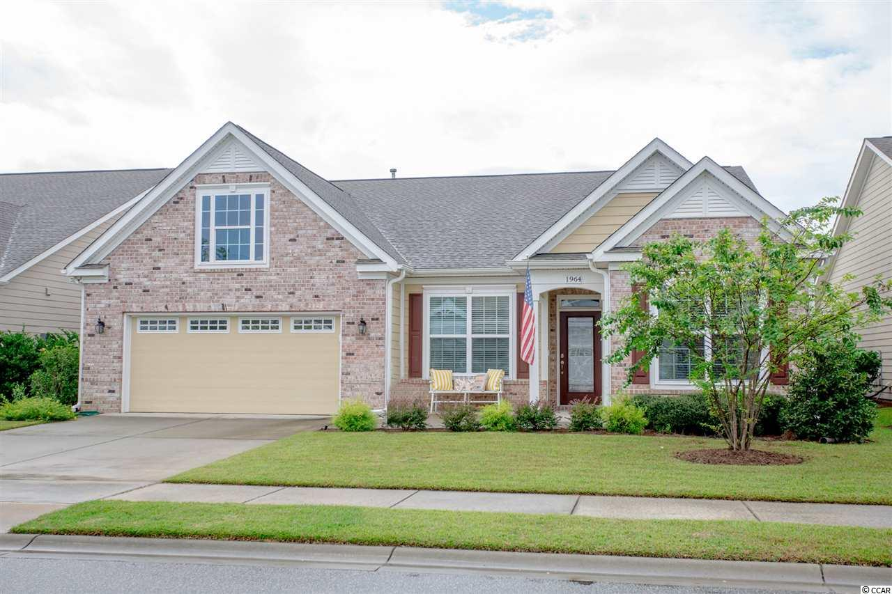 The lifestyle you have been waiting for is about to become a reality with this 4 bedroom, 2.5 bath home (3 BR plus Flex Room) in the popular Cresswind of Market Common community.  Just 5 years young, this gently used home is one of the largest floorplans in this active adult community. This home features an open floor plan with front porch, leaded glass entry door, attractive hardwood floors in the entryway, ½ bath, kitchen and family room, tile in the full baths and carpeting in the bedrooms. Entertaining will be easy in this home with its family room, formal dining room, large eat-in kitchen and screened lanai.  Spacious and open family room with high ceiling, fan, crown molding and recessed lights.  The kitchen is a chef's delight with granite counter tops, backsplash, stainless steel appliances, custom cabinets, pantry, breakfast bar and bright and cheery breakfast nook.  The formal dining room with tray ceiling, crown molding, solar light and column will be the perfect spot for hosting holiday meals and more formal events.  Split bedroom plan with large master suite with tray ceiling, crown molding and ceiling fan.  Spacious master bath with tiled walk-in shower, double sinks, separate vanity and French doors leading into the very large walk-in closet.  2 guest bedrooms with fans and a jack and Jill bath with 2 vanities and shower/tub.  The flex room which can be used as a 4th bedroom, den/library or living room, overlooks the front yard. There is also a ½ bath and laundry room.   A door from the breakfast nook leads to the screened lanai where you can start the day sipping your favorite beverage.  There is a 2-car garage with aluminum stairs leading to floored storage in the attic, termite bond and irrigation system. Cresswind residents enjoy a fabulous amenity center that is second to none.  This 12,000 square-foot clubhouse includes a full fitness center, yoga and aerobics studio, arts and craft room, computer center, social ballroom, party room and state-of