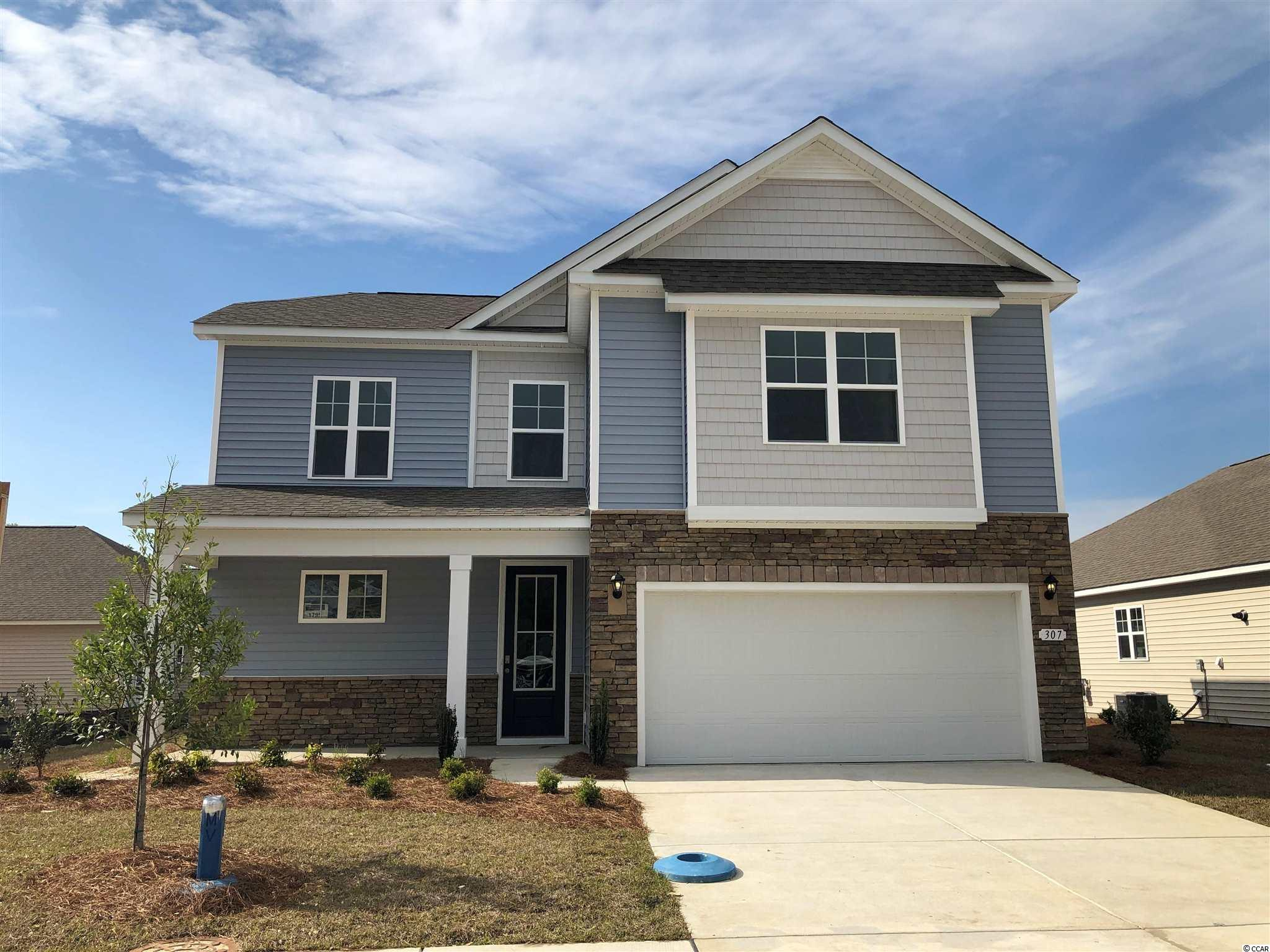 New phase now selling! Hidden Brooke is a beautiful community with an amenity that includes a pool with large deck area, clubhouse, exercise room, and fire pit overlooking the water. Minutes away from Highway 31 which provides quick and easy access to all of the Grand Strand's offerings: dining, entertainment, shopping, and golf! Tranquil setting just a short drive to the beach. This home has everything you are looking for! Our Belfort plan with a stacked stone elevation, 8 ft. entry door, and inviting front porch. Spacious kitchen with white painted cabinets, granite countertops, a large island overlooking the family room, walk-in pantry, and stainless Whirlpool appliances. Beautiful laminate wood flooring throughout the main living areas with tile in the bathrooms and laundry room and sliding glass doors off the dining area lead to the rear screen porch creating a seamless transition from indoor to outdoor living. The first floor primary bedroom suite will feature an extended sitting room space along with a large shower, dual vanity, walk-in closet, and a separate linen closet for additional storage. Three nicely sized bedrooms and a versatile loft space are upstairs! This home will also feature an additional concrete patio off the screen porch and blinds throughout. It gets better- this is America's Smart Home! Ask an agent today about our industry leading smart home technology package that is included in all of our new homes. *Photos are of a similar Belfort home. (Home and community information, including pricing, included features, terms, availability and amenities, are subject to change prior to sale at any time without notice or obligation. Square footages are approximate. Pictures, photographs, colors, features, and sizes are for illustration purposes only and will vary from the homes as built. Equal housing opportunity builder.)