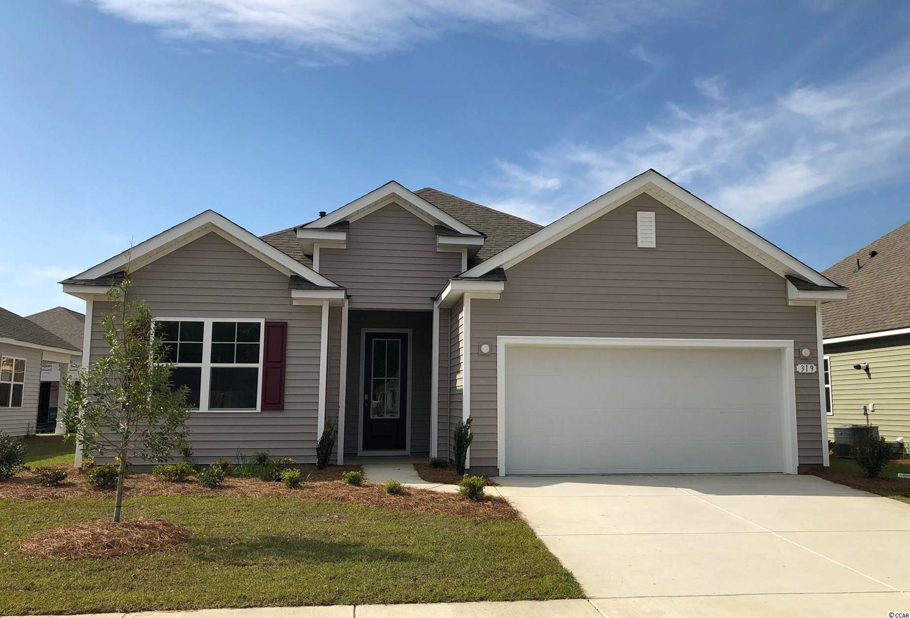 New phase now selling! Hidden Brooke is a beautiful community with an amenity that includes a pool with large deck area, clubhouse, exercise room, and fire pit overlooking the water. Minutes away from Highway 31 which provides quick and easy access to all of the Grand Strand's offerings: dining, entertainment, shopping, and golf! Tranquil setting just a short drive to the beach. This popular Eaton floor plan is a great open concept home with a show stopper kitchen- perfect for family living and entertaining! White painted cabinetry, granite countertops, stainless Whirlpool appliances including a gas range, 9 ft. ceilings, and much more! Luxury primary bedroom suite with tray ceiling and en suite bath featuring a large double vanity, 5 ft. shower, and two linen closets! This home will also feature laminate wood flooring throughout the main living areas with tile in the bathrooms and laundry room. It gets better- this is America's Smart Home!  Control the thermostat, front door light and lock, and video doorbell from your smartphone or with voice commands to Alexa.  *Photos are of a similar Eaton home.  (Home and community information, including pricing, included features, terms, availability and amenities, are subject to change prior to sale at any time without notice or obligation. Square footages are approximate. Pictures, photographs, colors, features, and sizes are for illustration purposes only and will vary from the homes as built. Equal housing opportunity builder.)