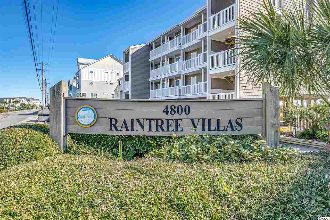 Very well maintained Oceanfront condo located in Cherry Grove NMB. Beautiful second home fully furnished unit overlooking the ocean from the living room & master bedroom.  Great location to all attractions. NEW HVAC system 2018. Main Shut off value 2019, Garage Disposal 2020, Hot Water Heater 2018. Raintree Villas was recently renovated with New Siding, Carport Ceiling, All Floors were resurfaced and bathroom updated. There is a small remaining assessment 2021 for work completed to the building and grounds.