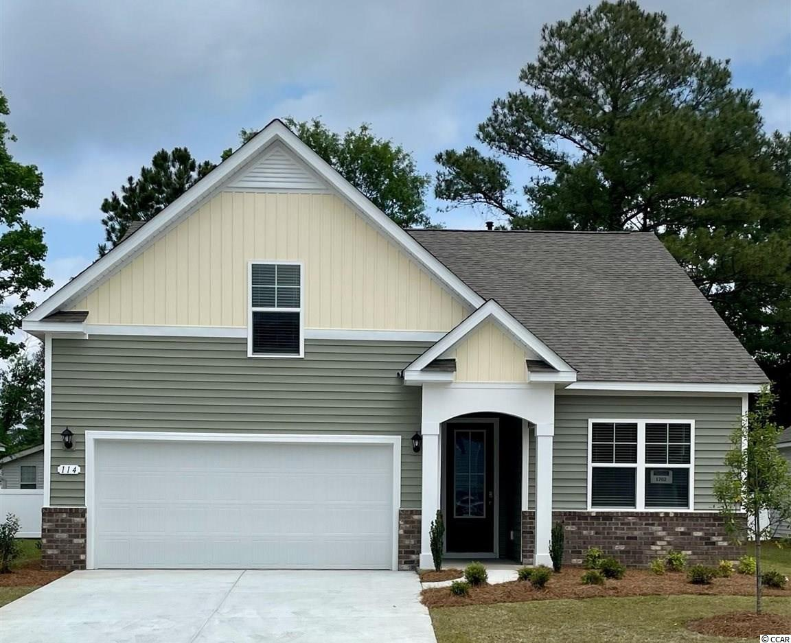 New phase now selling! Hidden Brooke is a beautiful community with an amenity that includes a pool with large deck area, clubhouse, exercise room, and fire pit overlooking the water. Minutes away from Highway 31 which provides quick and easy access to all of the Grand Strand's offerings: dining, entertainment, shopping, and golf! Tranquil setting just a short drive to the beach. This Acadia home features a beautiful exterior with brick accents and a tall entry door with glass. Open interior layout with 9 ft. ceilings and a great definition of space. The kitchen boasts a large pantry, quartz countertops, white painted cabinets, and stainless Whirlpool appliances. Conveniences like a tankless water heater and our Home Is Connected smart home package are also included. This home also offers a covered rear porch which is great for morning coffee and the optional second floor with a bonus room, full bathroom, and lots of storage space! *Photos are of a similar Acadia home.  (Home and community information, including pricing, included features, terms, availability and amenities, are subject to change prior to sale at any time without notice or obligation. Square footages are approximate. Pictures, photographs, colors, features, and sizes are for illustration purposes only and will vary from the homes as built. Equal housing opportunity builder.)