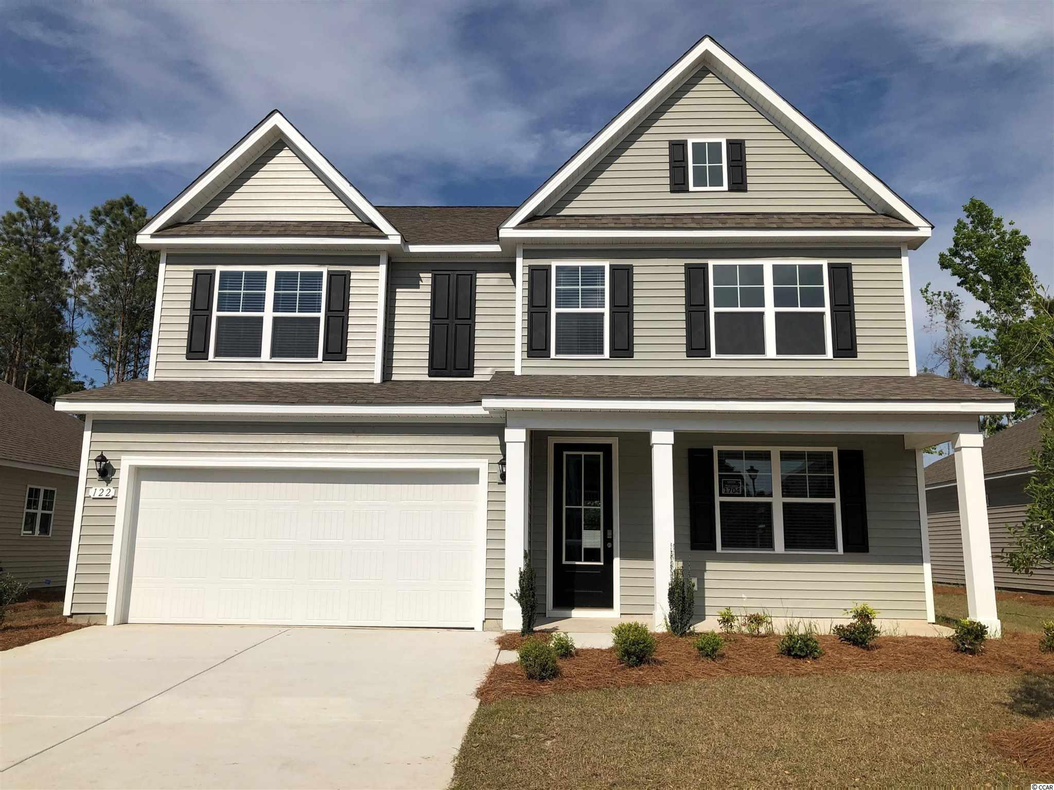 New phase now selling! Hidden Brooke is a beautiful community with an amenity that includes a pool with large deck area, clubhouse, and exercise room. Minutes away from Highway 31 which provides quick and easy access to all of the Grand Strand's offerings: dining, entertainment, shopping, and golf! Tranquil setting just a short drive to the beach. This popular Harbor Oak plan brings functionality and style together! Incredible curb appeal is an understatement given the cozy front porch and tall entry door. Once inside, laminate wood floors flow throughout the main living areas creating an inviting space and numerous windows bring in fantastic natural light. Off the entry is a spacious flex room that would make the perfect home office or formal dining room. The large gourmet kitchen boasts modern gray painted cabinetry, granite countertops, an oversized island, stainless Whirlpool appliances including a gas range, and a walk-in pantry. Spacious bedroom and full bathroom on the first floor is great for guests. Upstairs you will find the grand primary bedroom suite with a cozy sitting room, huge walk-in closet, and en suite bath with large separate vanities, linen closet, and 5 ft. shower! Two additional bedrooms, a hall bathroom with a double vanity, and a great loft space with lots of storage complete the upstairs.  *Photos are of a similar Harbor Oak home.  (Home and community information, including pricing, included features, terms, availability and amenities, are subject to change prior to sale at any time without notice or obligation. Square footages are approximate. Pictures, photographs, colors, features, and sizes are for illustration purposes only and will vary from the homes as built. Equal housing opportunity builder.)