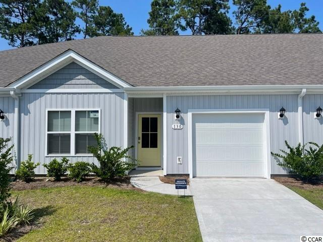"""Brand new community within walking distance to the Murrells Inlet Marsh Walk! Low maintenance living at its best with these single level townhomes. Our Bentley floorplan is masterfully designed with an open concept kitchen, living, and dining area that is perfect for guests visiting you at the beach! Features include 36"""" painted cabinetry, granite counters in the kitchen, stainless Whirlpool appliances, and laminate wood flooring that flows throughout the main living areas. This home also boasts a versatile flex space that would make a great formal dining room or home office. The primary bedroom suite is tucked away at the back of the home with a walk-in closet along with a private bathroom with dual vanity and large shower. Enjoy the beautiful coastal weather on the rear covered porch! One-car garage with garage door opener plus a spacious storage closet off the rear porch. It gets better- this is America's Smart Home! Ask an agent today about our industry leading smart home technology package that is included in each of our homes.  *Photos are of a similar Bentley home. This home is under construction.  (Home and community information, including pricing, included features, terms, availability and amenities, are subject to change prior to sale at any time without notice or obligation. Square footages are approximate. Pictures, photographs, colors, features, and sizes are for illustration purposes only and will vary from the homes as built. Equal housing opportunity builder.)"""