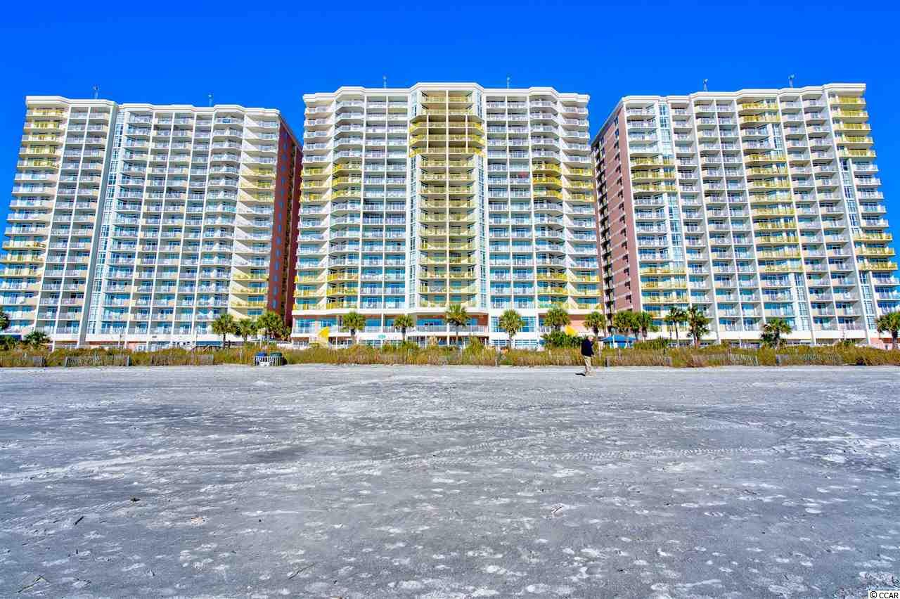 Looking for a second home or investment property at the beach? Look no further!! Baywatch Resort just located off of 28th Ave. S, offers 3 large ocean front towers, many amenities for you and your guests to enjoy, and a private parking garage. This ocean front condo has immaculate views of the Atlantic Ocean and is located in the heart of NMB. Enjoy the sunrise on the large balcony, or from the comfort of the master bed. This end unit offers  2 bedrooms/2 bathrooms, a full eat-in kitchen, and has established rental income history! There are 18 water features including a lazy river, 2 indoor pools, and hot tubs! Baywatch also offers onsite restaurants, a large ballroom perfect for events, fitness room, and a souvenir shop. Baywatch is only minutes away from the famous Barefoot Landing where you can enjoy countless restaurants, shops, and entertainment for the whole family!! What are you waiting for? Come check out this unit today!! There are virtual tours/ videos available if you are not able to come in person.  Video Link: https://www.dropbox.com/s/l9oso0fkemsqobk/BaywatchVideo03.wmv?dl=0