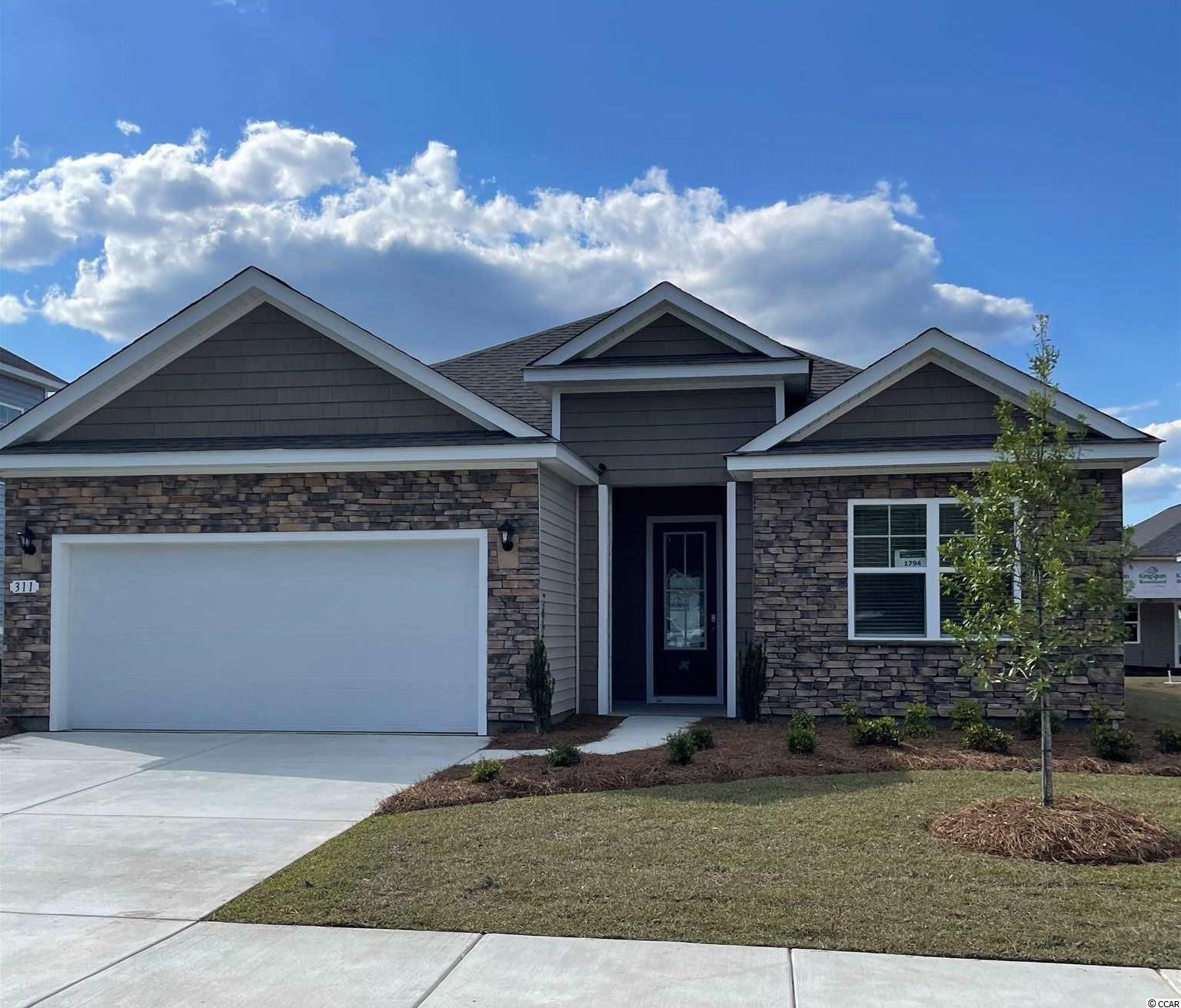 New phase now selling! Hidden Brooke is a beautiful community with an amenity that includes a pool with large deck area, clubhouse, exercise room, and fire pit overlooking the water. Minutes away from Highway 31 which provides quick and easy access to all of the Grand Strand's offerings: dining, entertainment, shopping, and golf! Tranquil setting just a short drive to the beach. Perfect for entertaining family and friends or just creating the ideal space for your daily needs, the Eaton is a very open single story home with a beautiful gourmet kitchen! Granite counters with an oversized island over looking the family room, white painted cabinets, stainless Whirlpool appliances including a gas range, and a walk-in pantry. The split bedroom floorplan creates a private primary bedroom suite that offers a walk-in closet, dual vanity, 5' shower, and two linen closets! Relax and enjoy the warm coastal weather on the 26'x9' covered rear porch! This home is a must see. It gets better- this is America's Smart Home!  Control the thermostat, front door light and lock, and video doorbell from your smartphone or with voice commands to Alexa.  *Photos are of a similar Eaton home.  (Home and community information, including pricing, included features, terms, availability and amenities, are subject to change prior to sale at any time without notice or obligation. Square footages are approximate. Pictures, photographs, colors, features, and sizes are for illustration purposes only and will vary from the homes as built. Equal housing opportunity builder.)