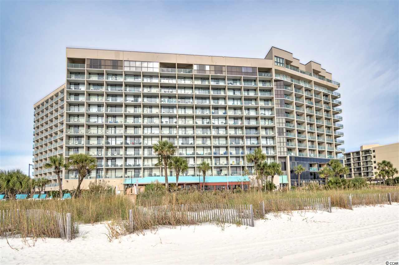 Gorgeous 1 bedroom, 1 bath unit with breathtaking direct oceanfront views of the Atlantic. This unit features a large balcony, newer tile floors and paint, new furniture, brand new HVAC system, brand new dishwasher, custom tiled walk-in shower, and is sold fully furnished. The HOA fee covers all in-unit utilities including electric, which makes this vacation getaway totally turn-key! Sand Dunes resort features an indoor/ outdoor pool, lazy river and water park, a variety of on-site dining including a poolside bar and grill and a convenience store. Also available is a a 24 hour business center, a fitness center, and on-site laundry. Make an appointment to see this fantastic unit today! Not in town? Ask for the 3D virtual tour.