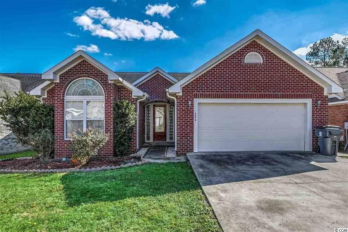 This beautiful all brick home is located in the highly sought after and beautifully maintained golf course community in Little River known as River Hills, just a couple miles north of North Myrtle Beach. This home boasts a beautiful bright, light, open floor plan that you enter through a beautiful leaded glass door to an open foyer. To the left you will find the first two bedrooms and full bathroom. The front bedroom boasts vaulted ceilings, ceiling fans throughout each room in the house including the great sun room. New carpeting, freshly painted, wood floors, with tile in the kitchen and bathrooms, this home is a must see! Gorgeous French doors leading from both the formal dining area and the sun room onto the patio, this home encompasses tons of natural light into both the living and dining areas, and the bedrooms. In the master suite, you will find vaulted ceilings leading in the ensuite bathroom: an extra large jetted tub, separate stand up shower, large walk-in closet, an extra linen closet, and a double sink vanity. Kitchen is loaded with tons of cabinetry, a nice pantry, upgraded stainless steel appliances, and a breakfast bar overlooking open floor plan. Screened in patio right off open floor plan leading from french doors off formal dining room and Carolina room. Large and spacious 2 car garage attached to this home, making this a must see just a few miles from the Atlantic Ocean and all that Myrtle Beach has to offer!