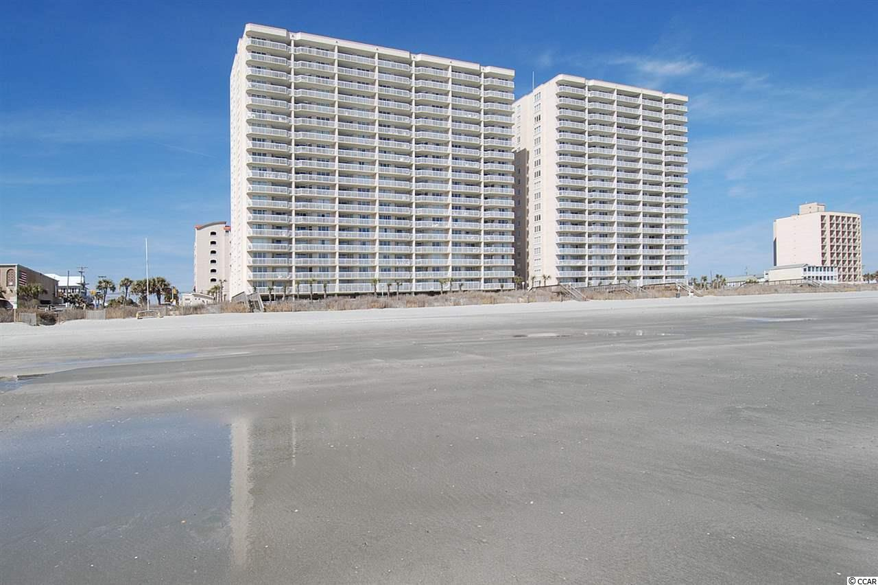 Spacious 2 bedroom with 2 full baths, oceanfront condo on the wide beaches of the Crescent beach area. There is access to the large balcony from livingroom and the master suite.  It has an open spacious split floor plan with full sized washer and dryer, granite countertops. Please view virtual tour for floor plan. Crescent Shores offers many amenities including indoor and outdoor pools, lazy river, hot tubs, kiddie pool and exercise room.  Located in the heart of North Myrtle Beach just minutes away from Main Street and Barefoot Landing, shopping, dining, entertainment, and more. Don't miss out on this fabulous opportunity perfect for second home, investment or full time residence that is ready to enjoy!