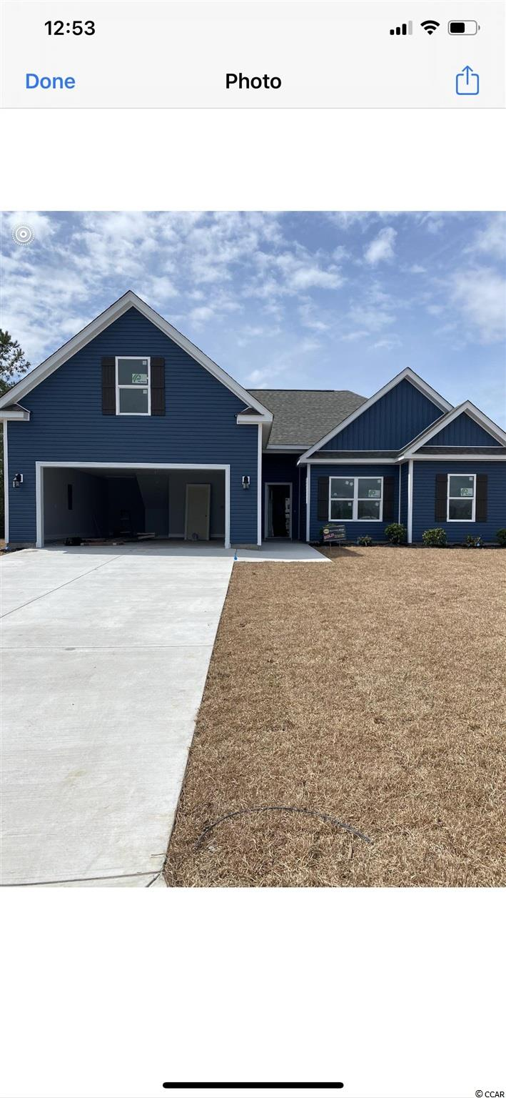 This beautiful 3 or 4 BR/ 3BA home is now being built in the small natural gas neighborhood in Conway. The Reserve at Heritage Downs located off Hwy 90, Close to beaches, shopping, golfing, and so much more. Beautiful kitchen with granite countertops, stainless steel appliances. The master bedroom with a gorgeous tray ceiling and a master bath, tiled with double sinks and large walk in closet! The other 2 bedrooms are on the first floor as well both with closets and a shared bathroom. Large bonus room upstairs with another full bathroom. This home offers ample space with additional storage in the laundry room and large attached 2 car garage that has a great spot for a workshop or storage. Whether you're grilling out or looking to relax, your large backyard has plenty of room on this .31 acre lot to add a pool. **Pictures are only a representation of what the finished home will look like** GPS Long Leaf Drive - we will be the neighborhood on the left