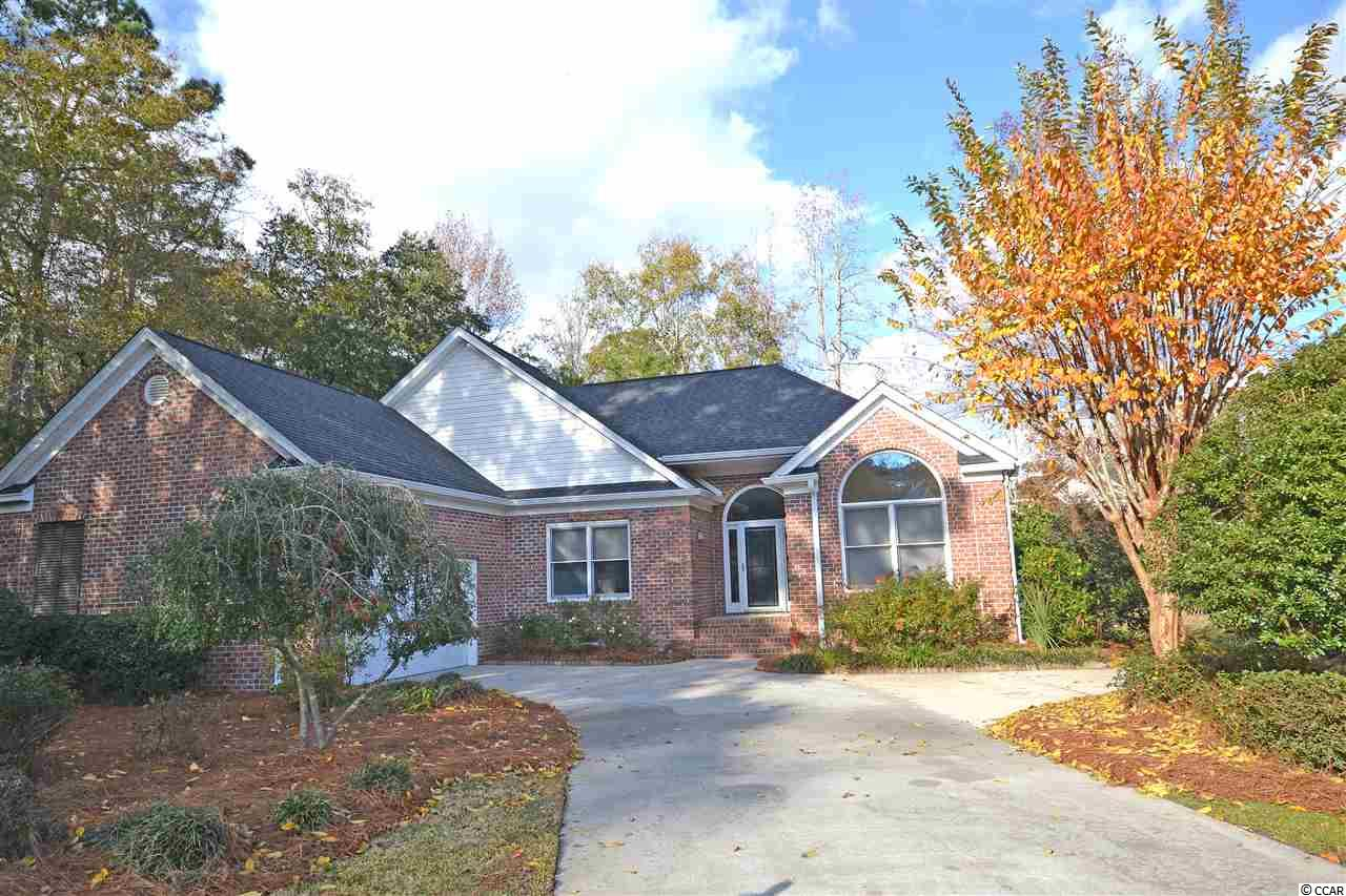 Great all brick home on a cul-de-sac in Ricefields Plantation.  This airy 3BR-2BA home has new LTV flooring throughout and a split bedroom/open floor plan with a great room and Carolina room with cathedral ceilings sharing a see through gas fireplace. The eat in kitchen has solid surface countertops and newly painted cabinets.  The large master suite has tray ceilings and a bathroom with whirlpool tub and separate shower.  Large laundry room and a garage with built in wood cabinets/shelves for organized storage and a convenient service door leading to a fenced side yard. The Ricefields intercoastal community boasts of a private boat ramp and gazebo and a large community pool.  Close to area schools, beaches, shopping and fine dining.  Just a 25 mile drive to the attractions of Myrtle Beach or 70 miles to historic Charleston, SC.  Owner is licensed SC real estate agent.