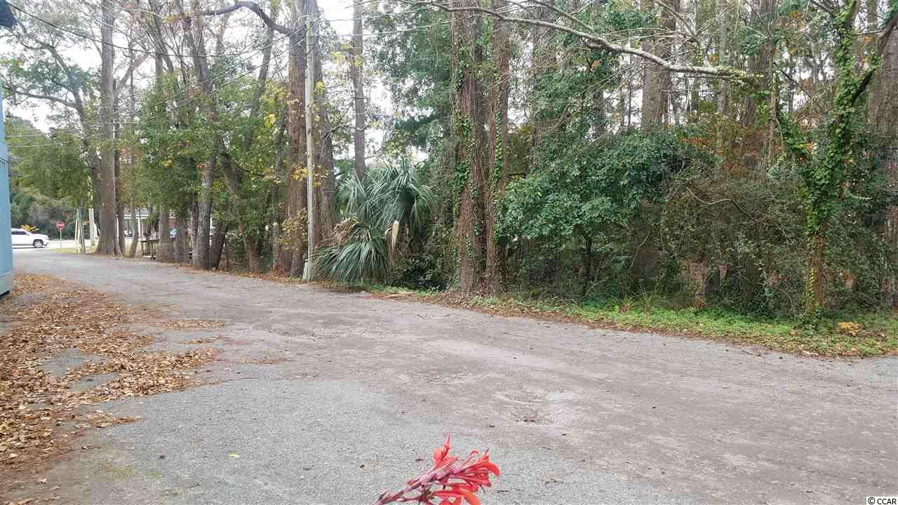 Rare chance for a commercial lot in Pawleys island. Nearly half an acre, this wooded lot is right in the middle of all the action. Located on a quiet street off HWY 17 with great road frontage. Adjacent property uses include restaurants, stores, and many more. This zoning code lends itself to many uses for this lot. Would make for an ideal live/work setup for a professional office. Bring you RV and hook up for a budget friendly place close to the beach and, next to all the action of Pawleys Island. There is a water easement from HWY 17 for connection to this lot. Short walk to the beach from this location. There are not too many lots like this one left in the Pawleys Island area.