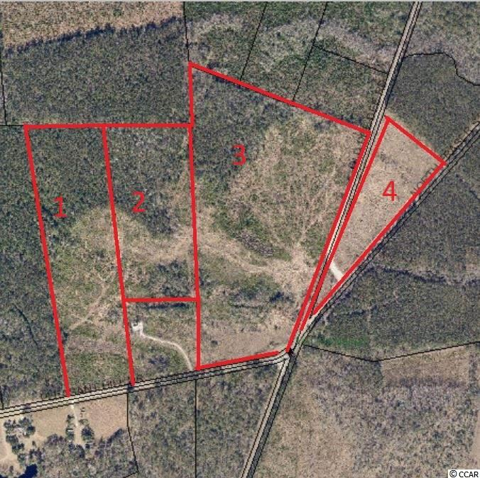 1- 03-0450-051-00-00 – 28.9 acres with road frontage on Pleasant Hill Dr 2- 03-0450-052-00-00 – 21.5 acres with no road frontage 3- 03-0450-035-01-00 – 55.8 acres with road frontage on both Pleasant Hill Dr and Old Pee Dee Rd.  4- 03-0450-035-02-00 – 12.09 acres with frontage on Hwy 701 and Old Pee Dee Rd.  Four parcels of land located off Pleasant Hill Dr in Yauhanna. Total acreage is 118.29. Owner will subdivide. Property offered as a whole and as individual parcels.  Property is wooded. Was clear cut in the past (approx. 5-7 years ago) and is not in regrowth timber. Per the wetlands map there are spots of wetlands on these tracts, buyer should verify before purchasing the presence of wetlands.  Property is currently zoned GC Please note that we are in the process of getting aerial photos now and will update them when we have them.