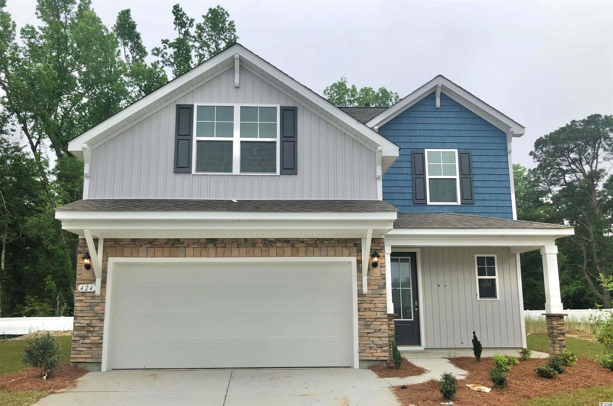 New phase now selling! The Mackenzie is a beautiful two-story home that features a large, open concept living area and kitchen! The kitchen boasts granite countertops, stainless Whirlpool appliances, a large corner pantry, and a working island that is 8' long with a breakfast bar! The downstairs also features a half bath and a sitting bench off the foyer to kick off your flip flops and hang your beach towels. Upstairs is the grand primary bedroom suite and three additional bedrooms. The primary bedroom is oversized with a tray ceiling, sitting area, and en suite bath with a garden tub, separate shower, and two large vanities.  Hidden Brooke is a beautiful community with an amenity that includes a pool with large deck area, clubhouse, and exercise room. Minutes away from Highway 31 which provides quick and easy access to all of the Grand Strand's offerings: dining, entertainment, shopping, and golf! Tranquil setting just a short drive to the beach.   *Photos are of a similar Mackenzie II home.  (Home and community information, including pricing, included features, terms, availability and amenities, are subject to change prior to sale at any time without notice or obligation. Square footages are approximate. Pictures, photographs, colors, features, and sizes are for illustration purposes only and will vary from the homes as built. Equal housing opportunity builder.)