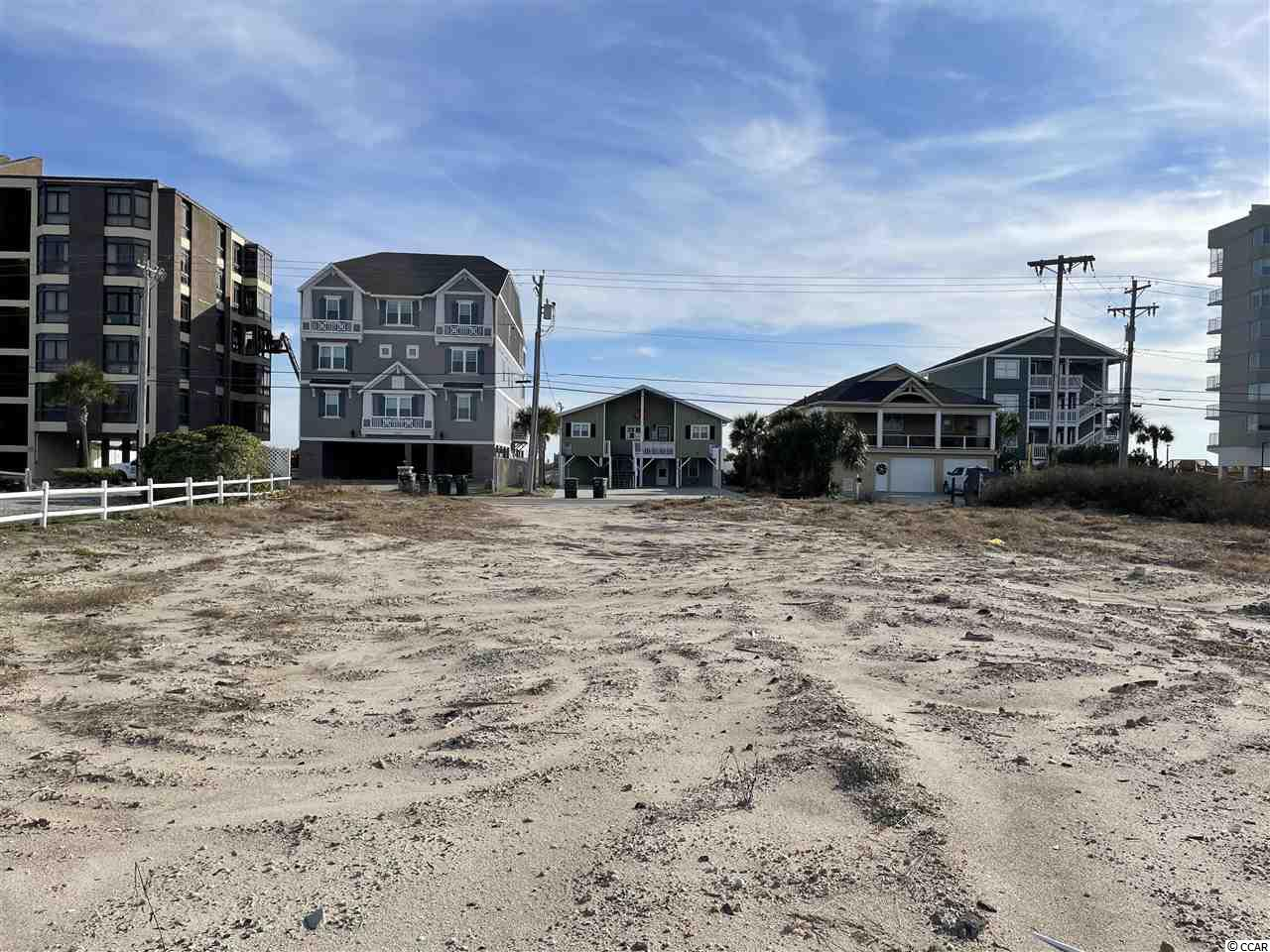 Large multifamily lot in a great second row beach location in the Cherry Grove section of North Myrtle Beach.